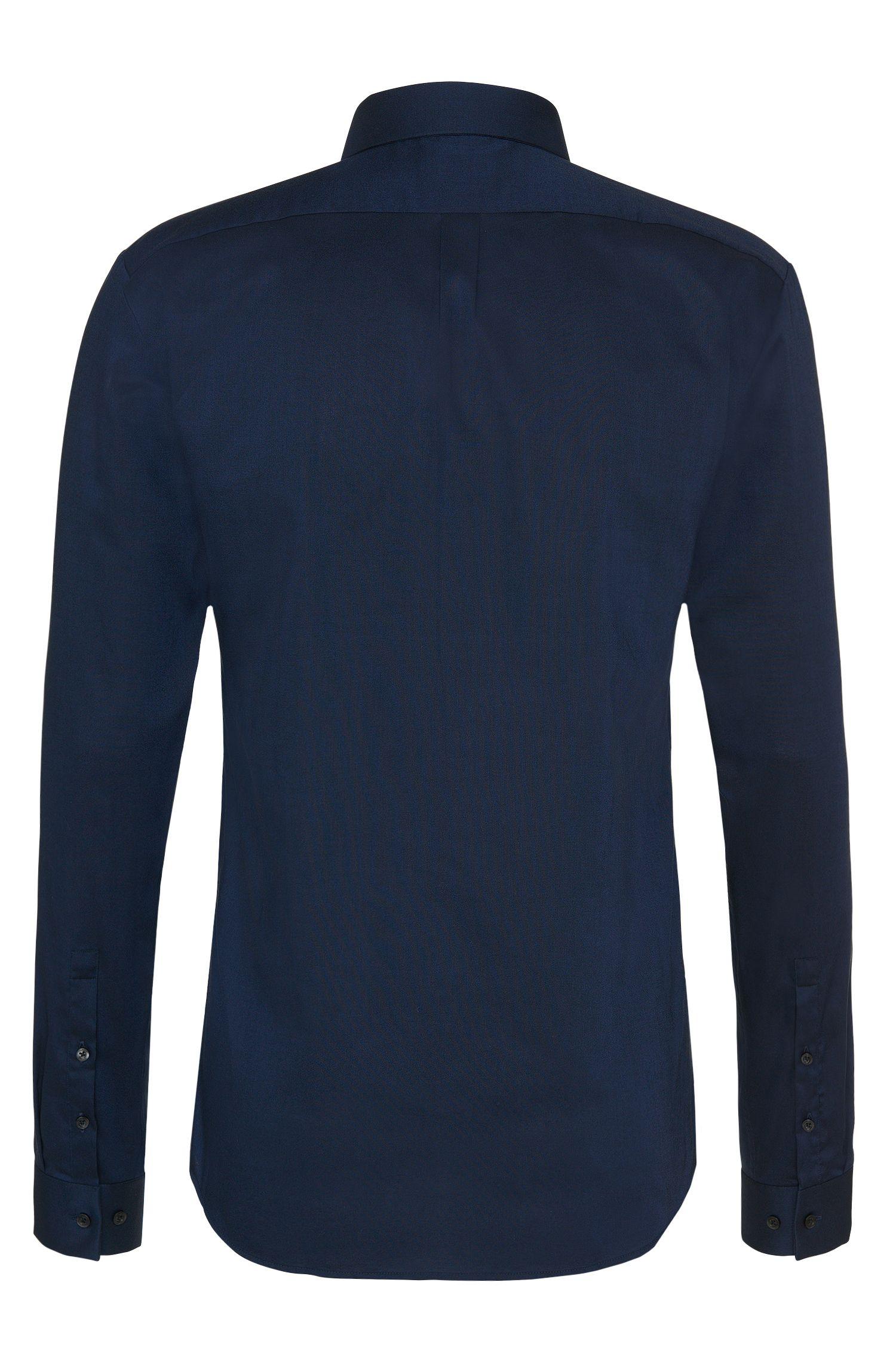 Slim-Fit-Hemd aus Baumwolle mit schmalem Kentkragen: 'Ero3'