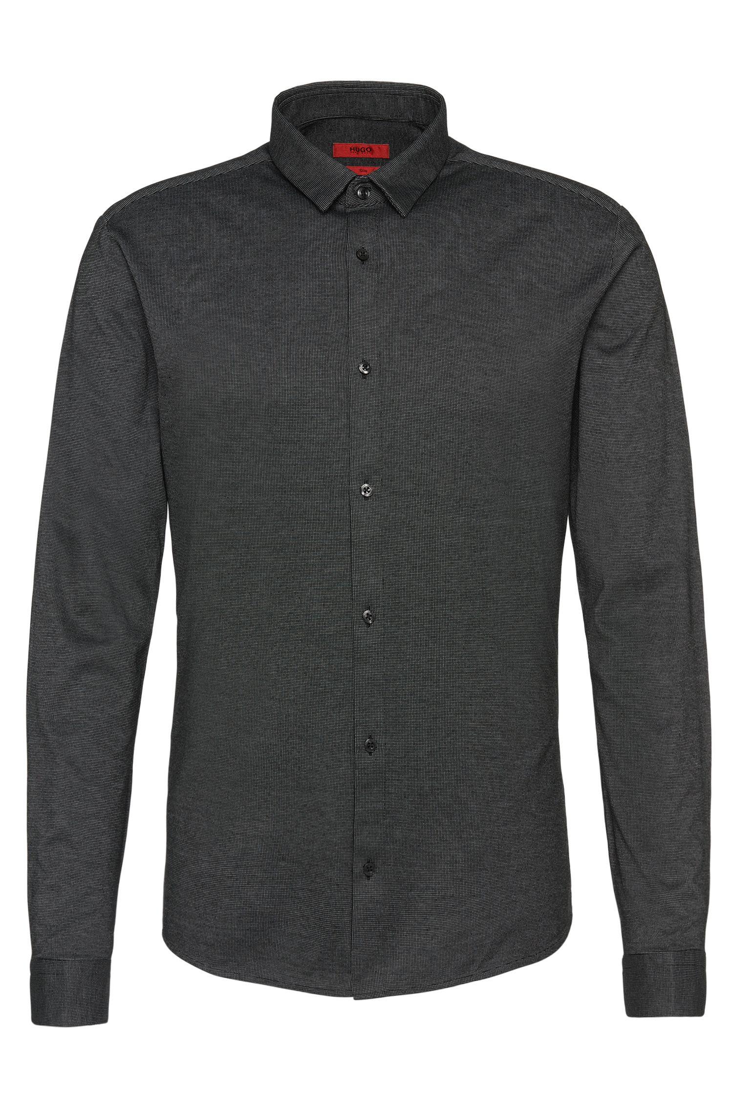 Camicia slim fit bicolore in cotone: 'Ero3'