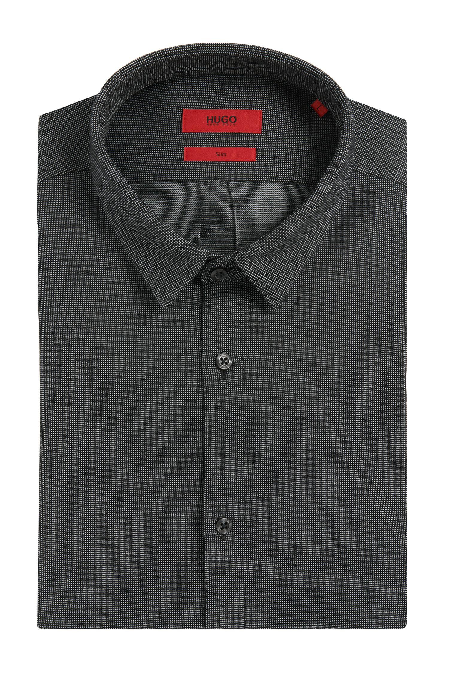 Tweekleurig slim-fit overhemd van katoen: 'Ero3'