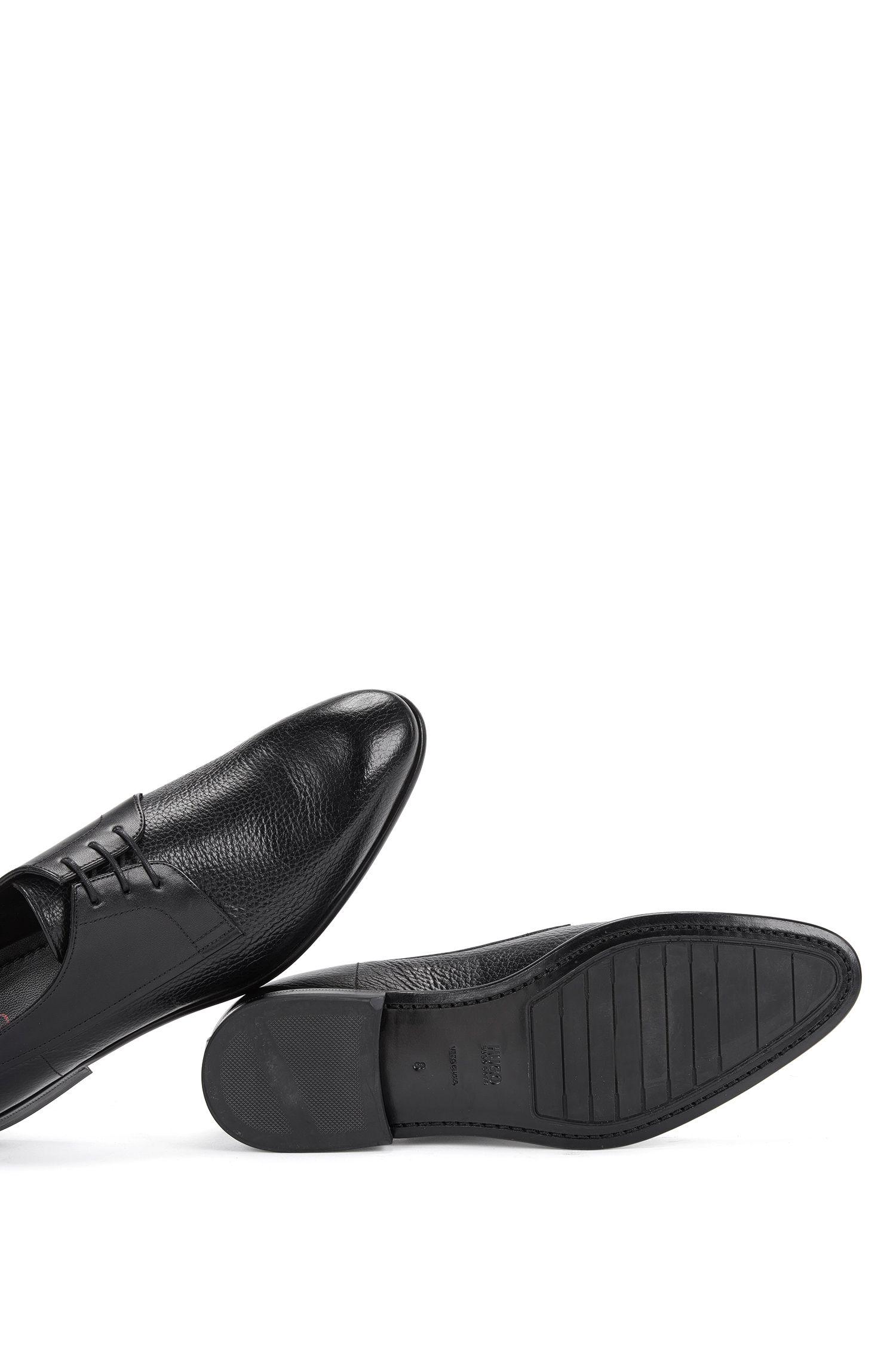 Chaussures à lacets en cuir présentant différentes structures: «Dressapp_Derb_gr»