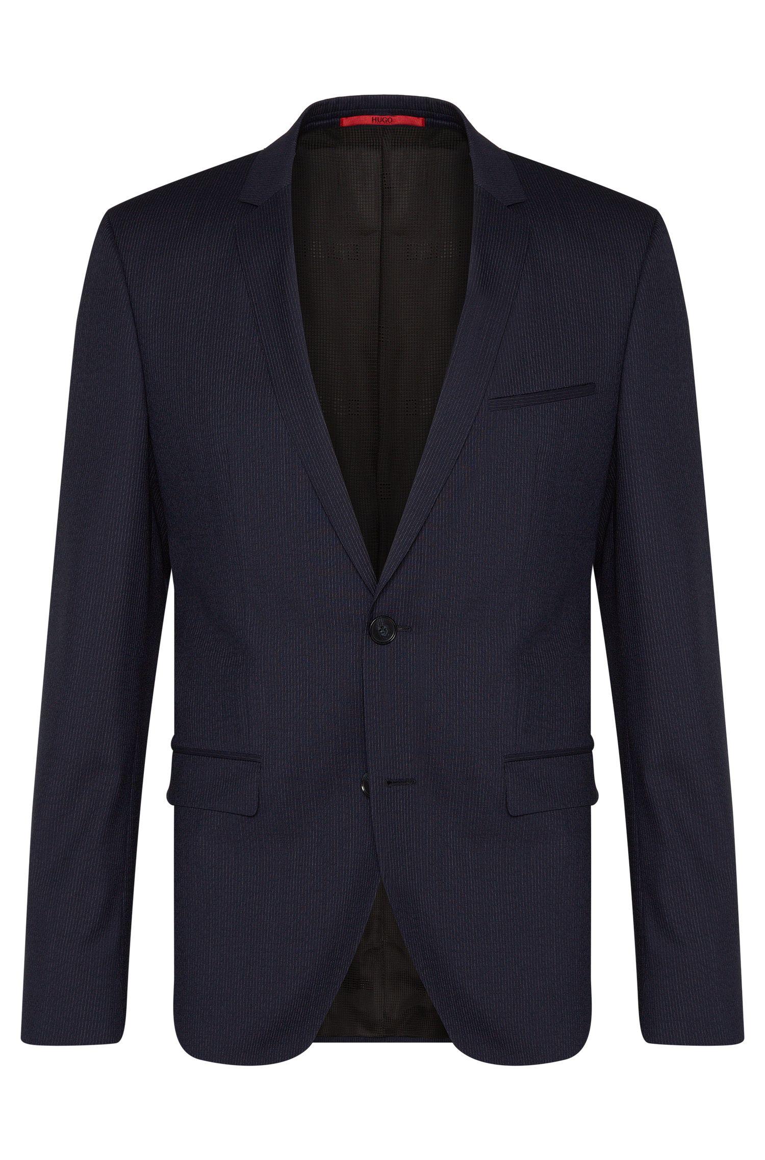 Fein gestreifter Extra Slim-Fit Anzug aus Schurwolle: 'Adris4/Heibo3'