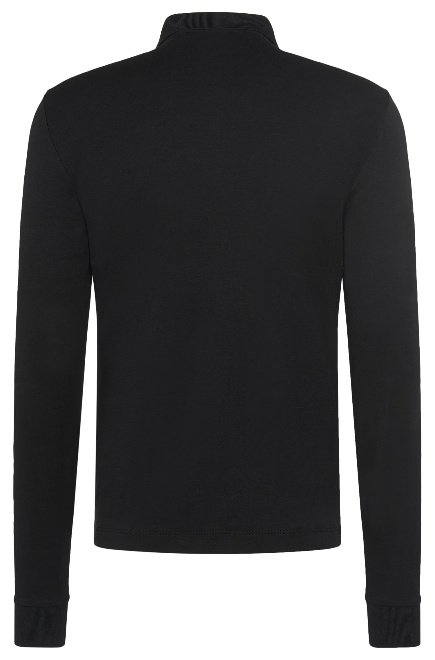 Regular-Fit Longsleeve-Poloshirt aus Pima-Baumwolle: 'Phillian'
