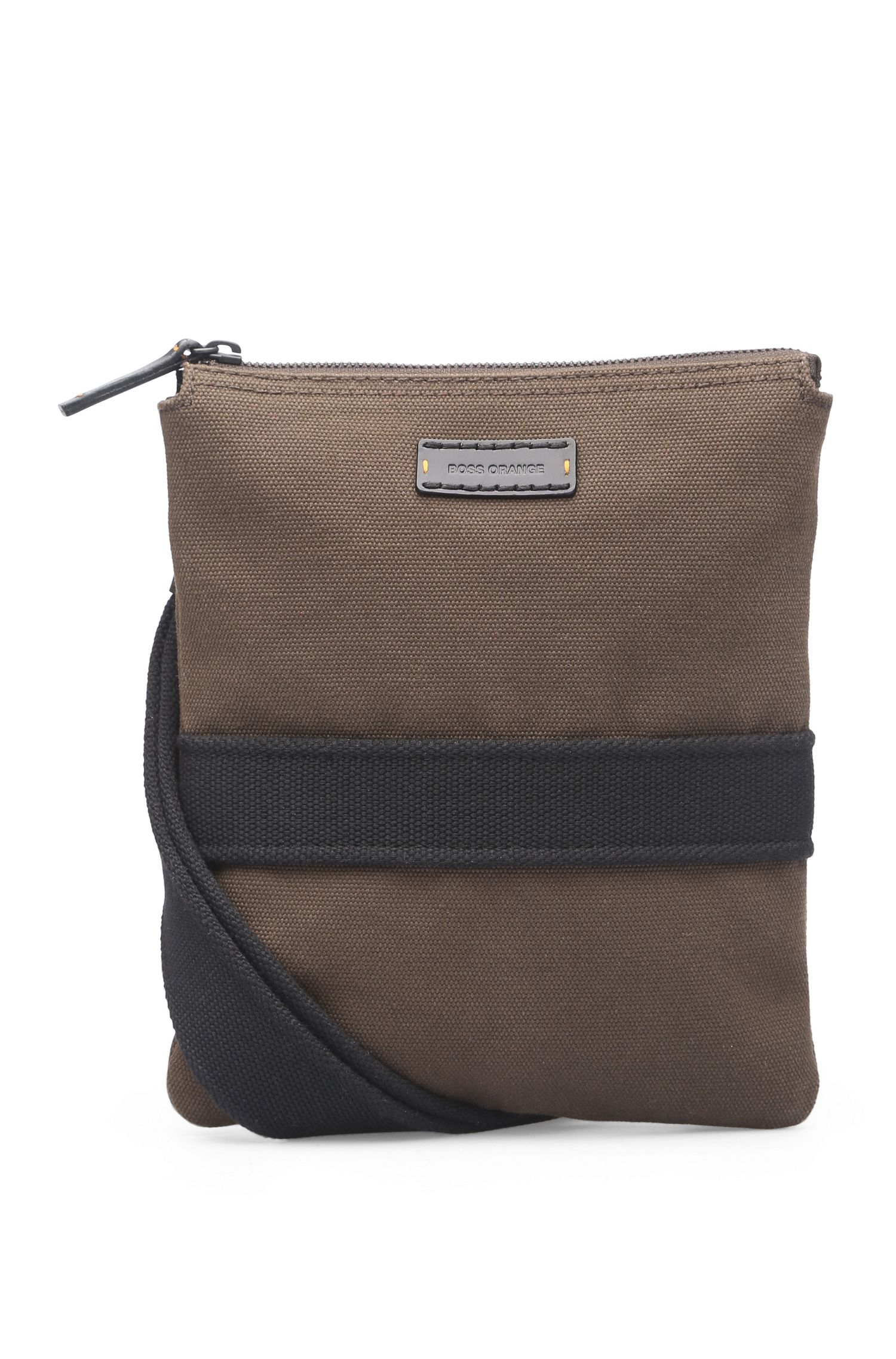 Pouch aus Canvas mit Leder: ´Adventure_S zip env`