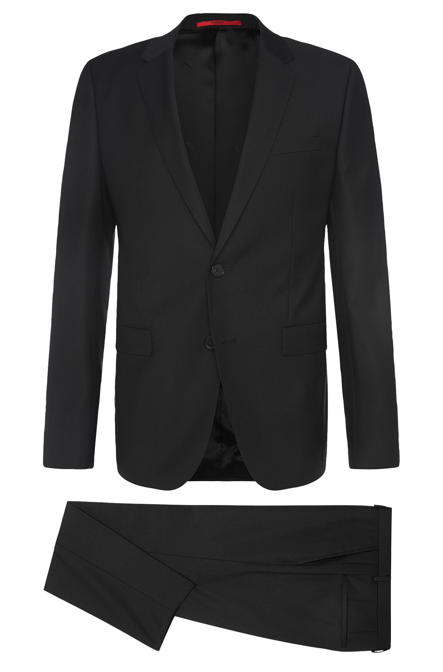 Slim-fit suit in pure new wool: 'Astian/Hets'