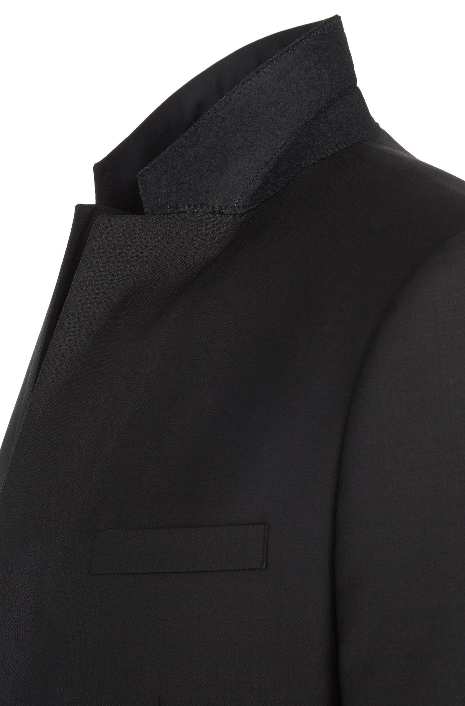 Slim-fit kostuum van zuivere scheerwol: 'Astian/Hets'