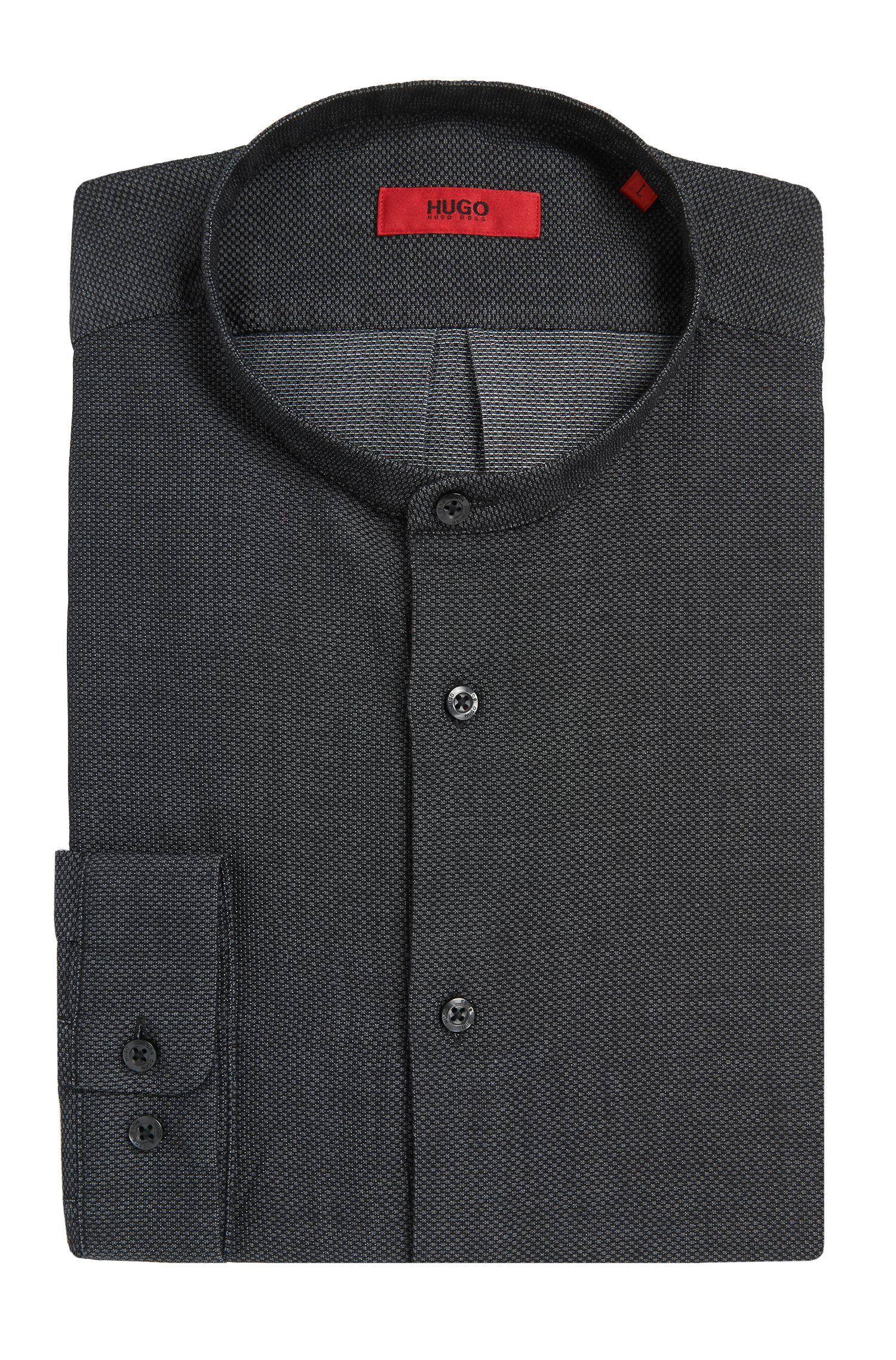Relaxed-fit overhemd van katoen met opstaande kraag: 'Eddison'