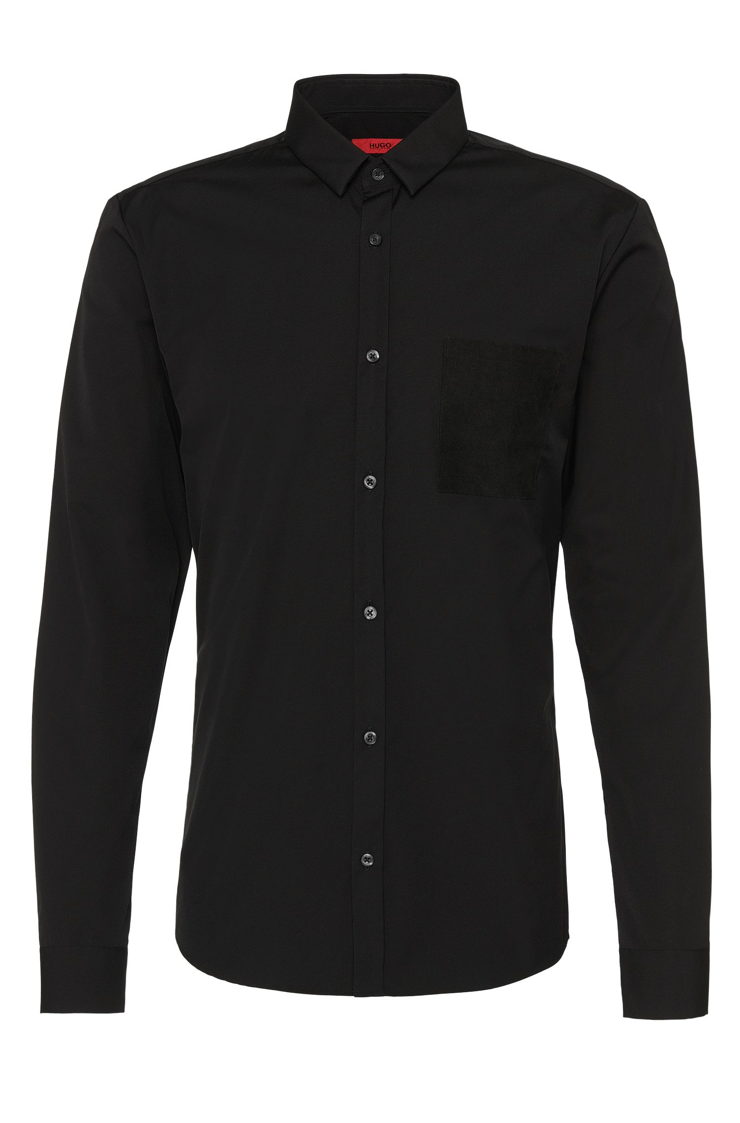 Plain slim-fit cotton shirt: 'Ero3'