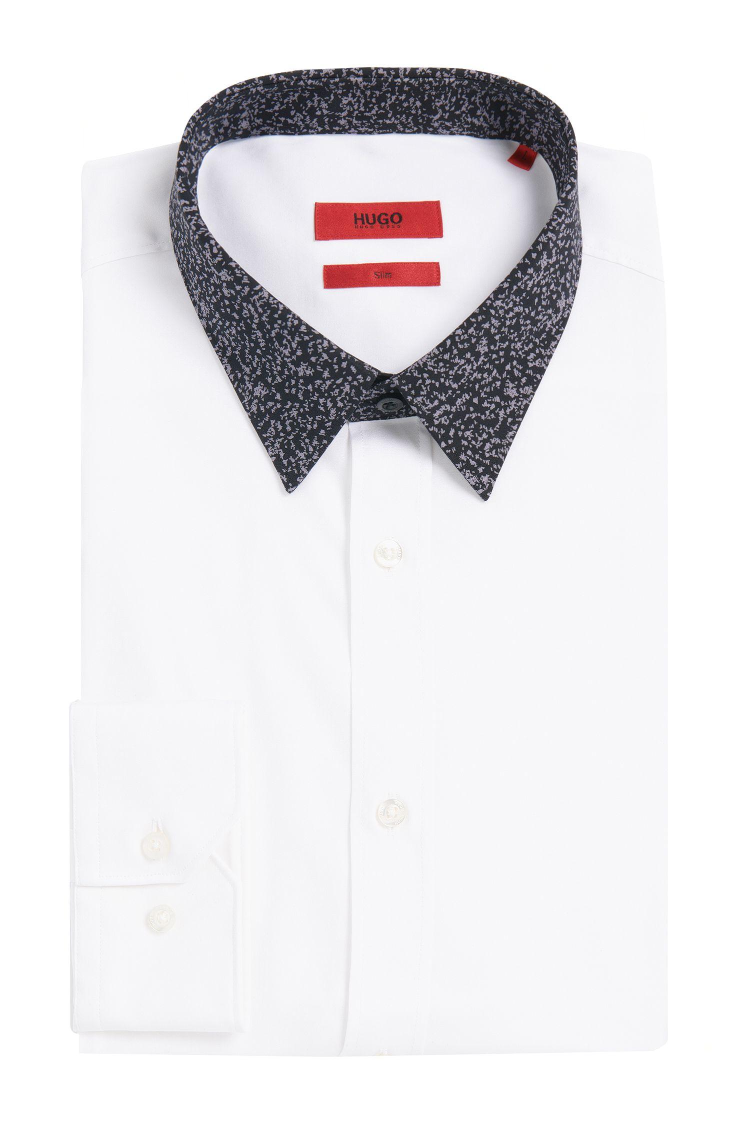 Chemise Slim Fit en coton dotée d'un col à motif: «Elisha1»