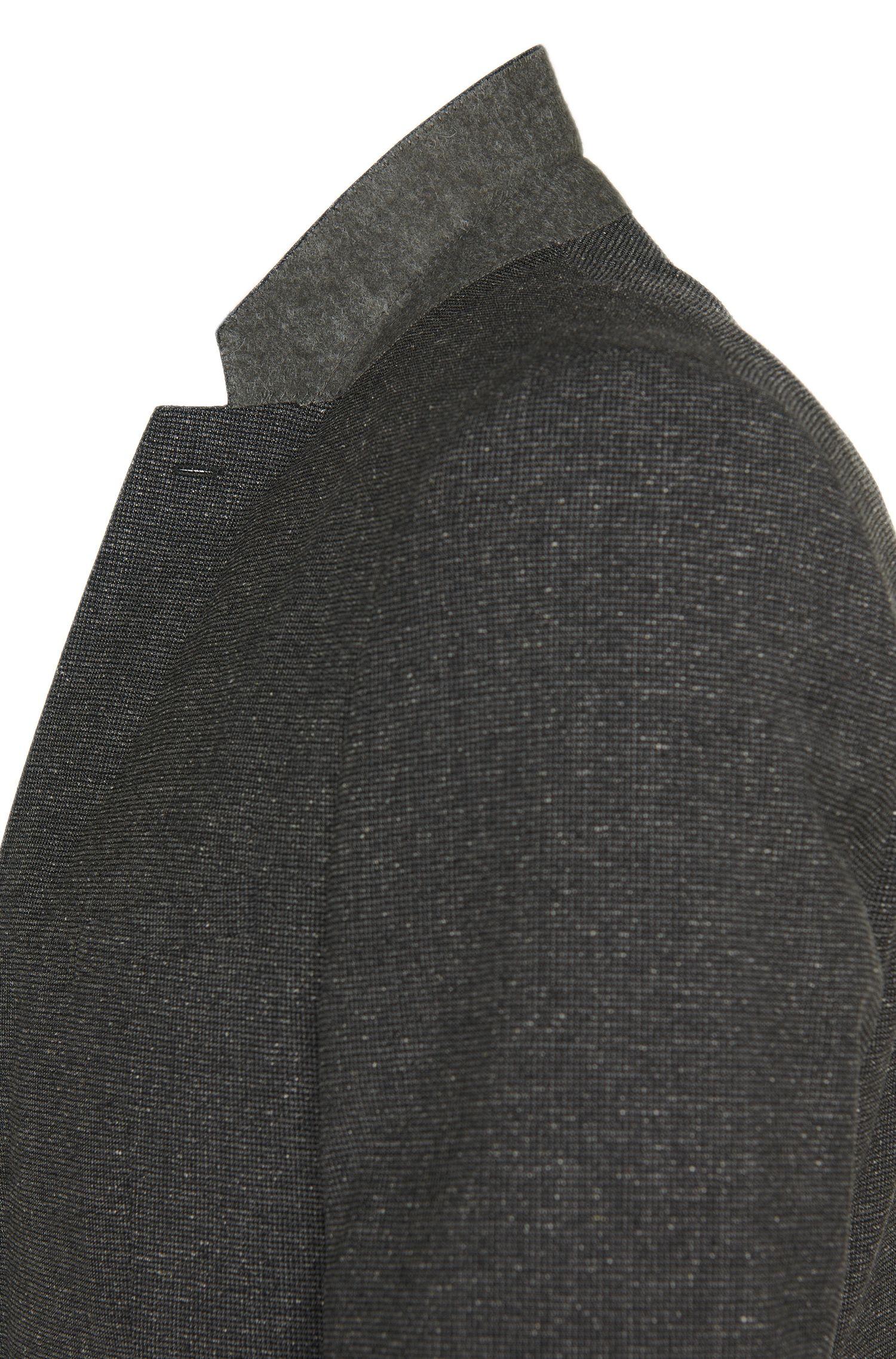 Fein karierter Slim-Fit Anzug aus Schurwoll-Mix mit Seide: 'Alid/Wyll/Hilor'
