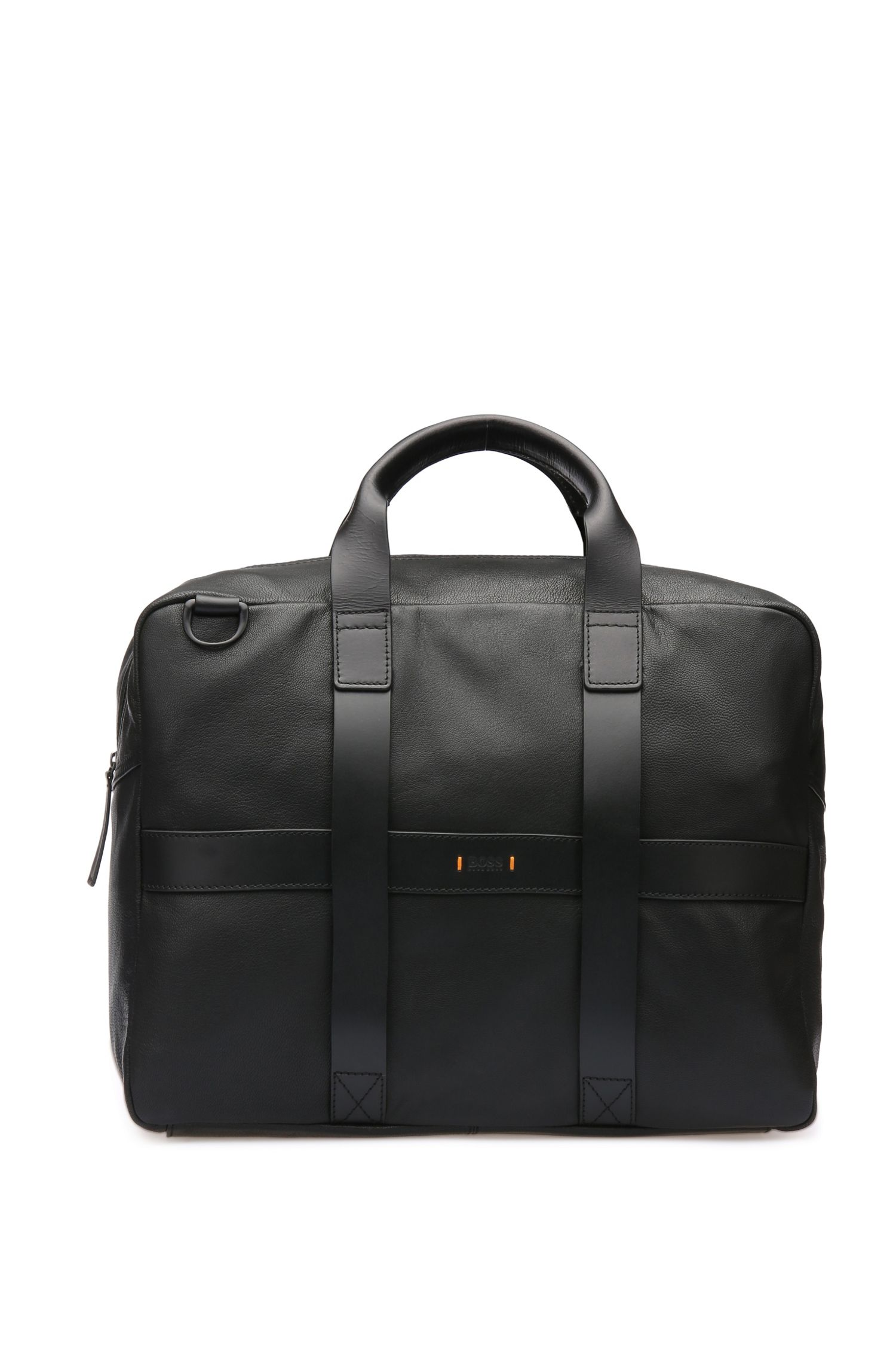 Borsa weekender in pelle con bandoliera rimovibile: 'Journey_Holdall'