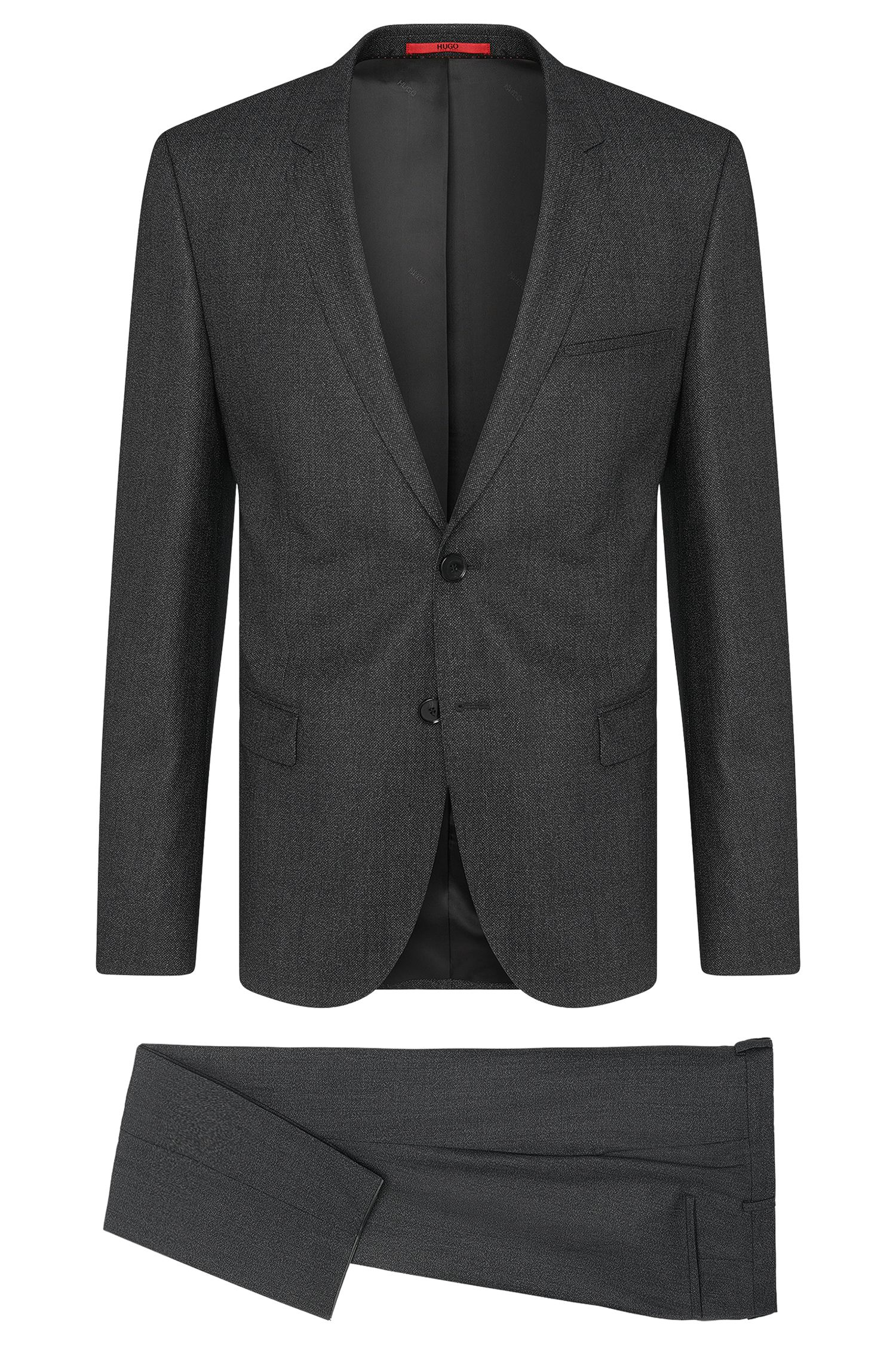 Mottled slim-fit suit in new wool blend: 'Arti/Heilon'