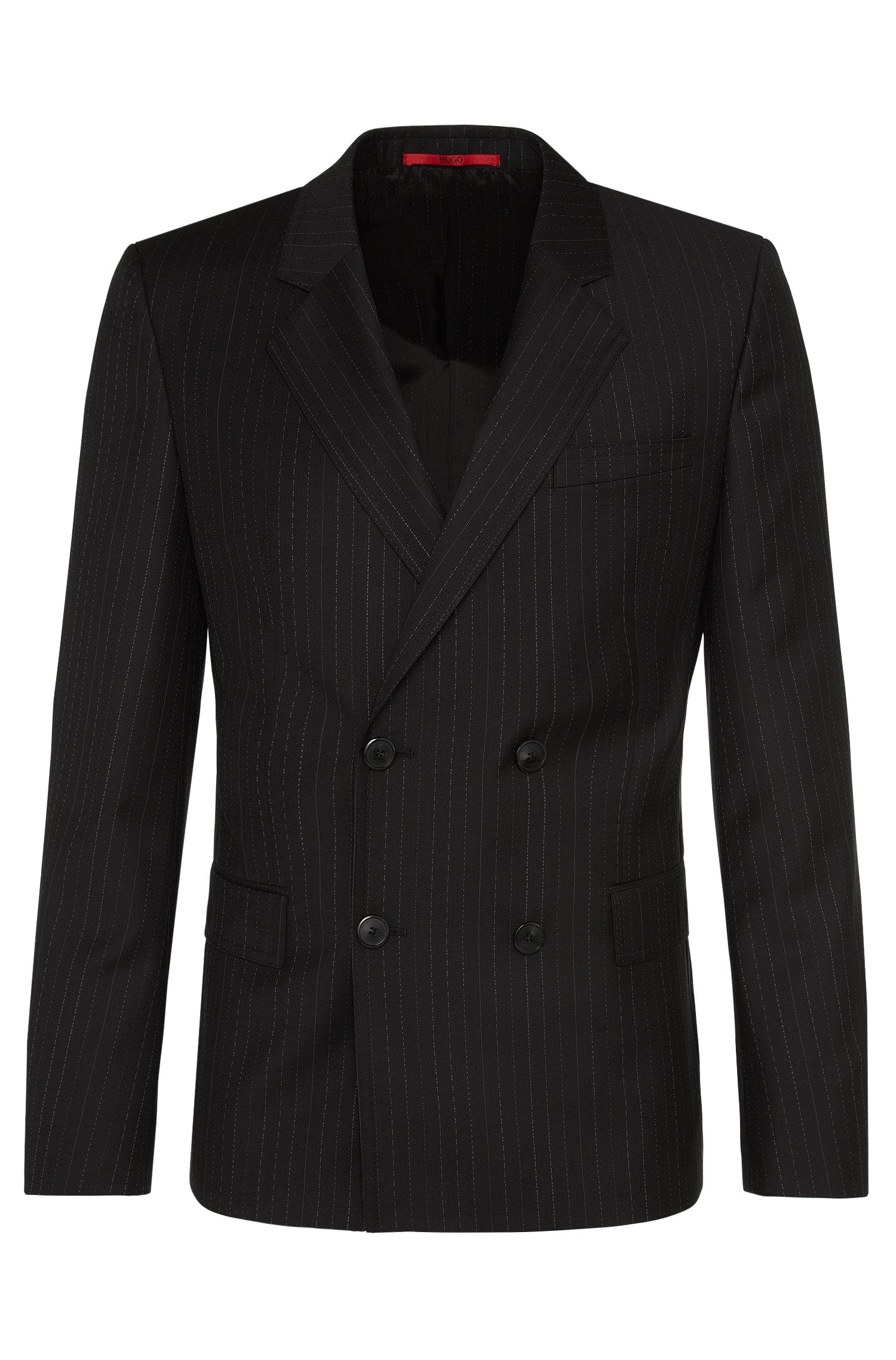 Slim-fit jacket in new wool with pinstripes: 'Andru'