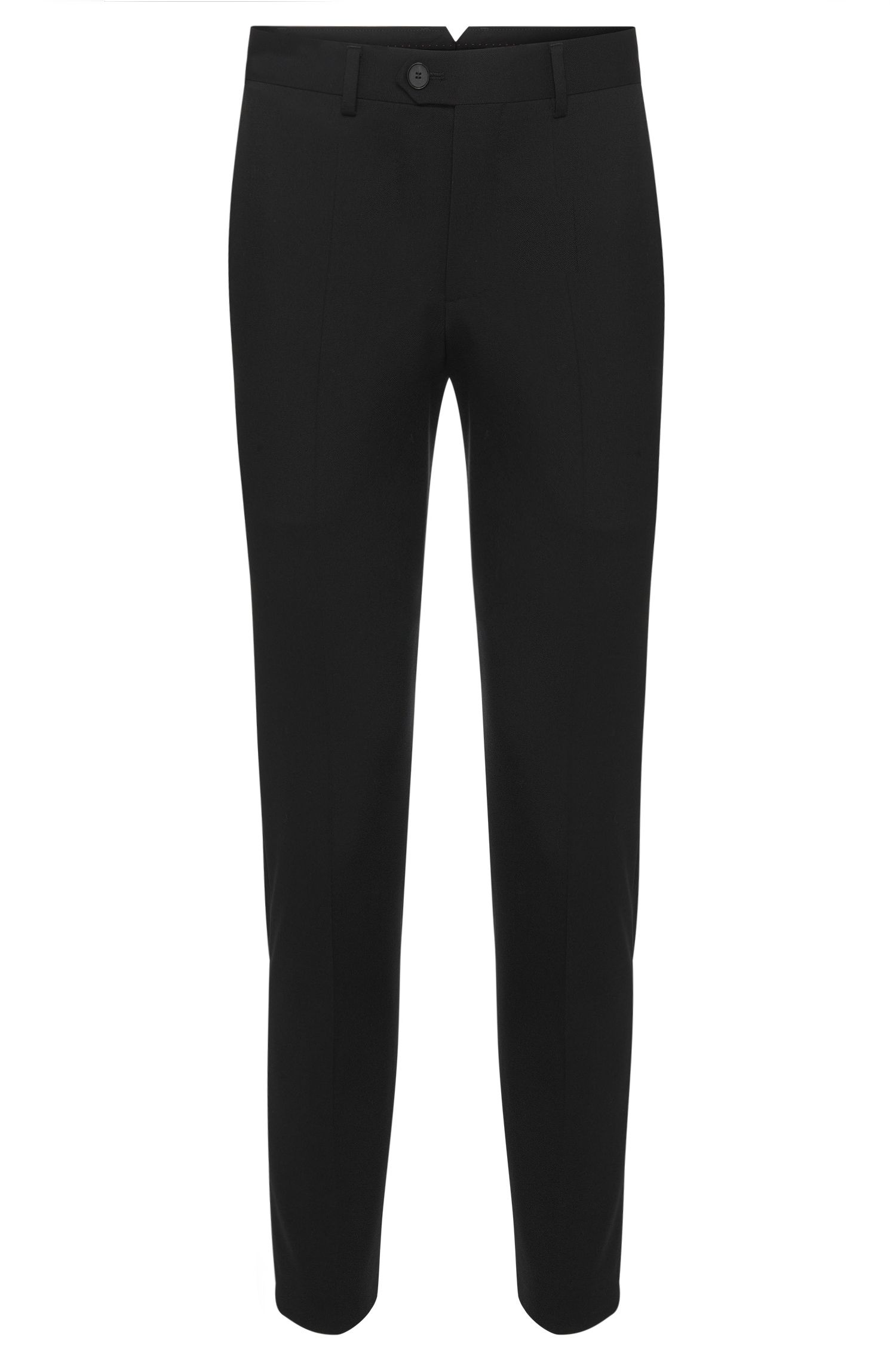 Pantalon Tapered Fit en laine vierge : « Hening »