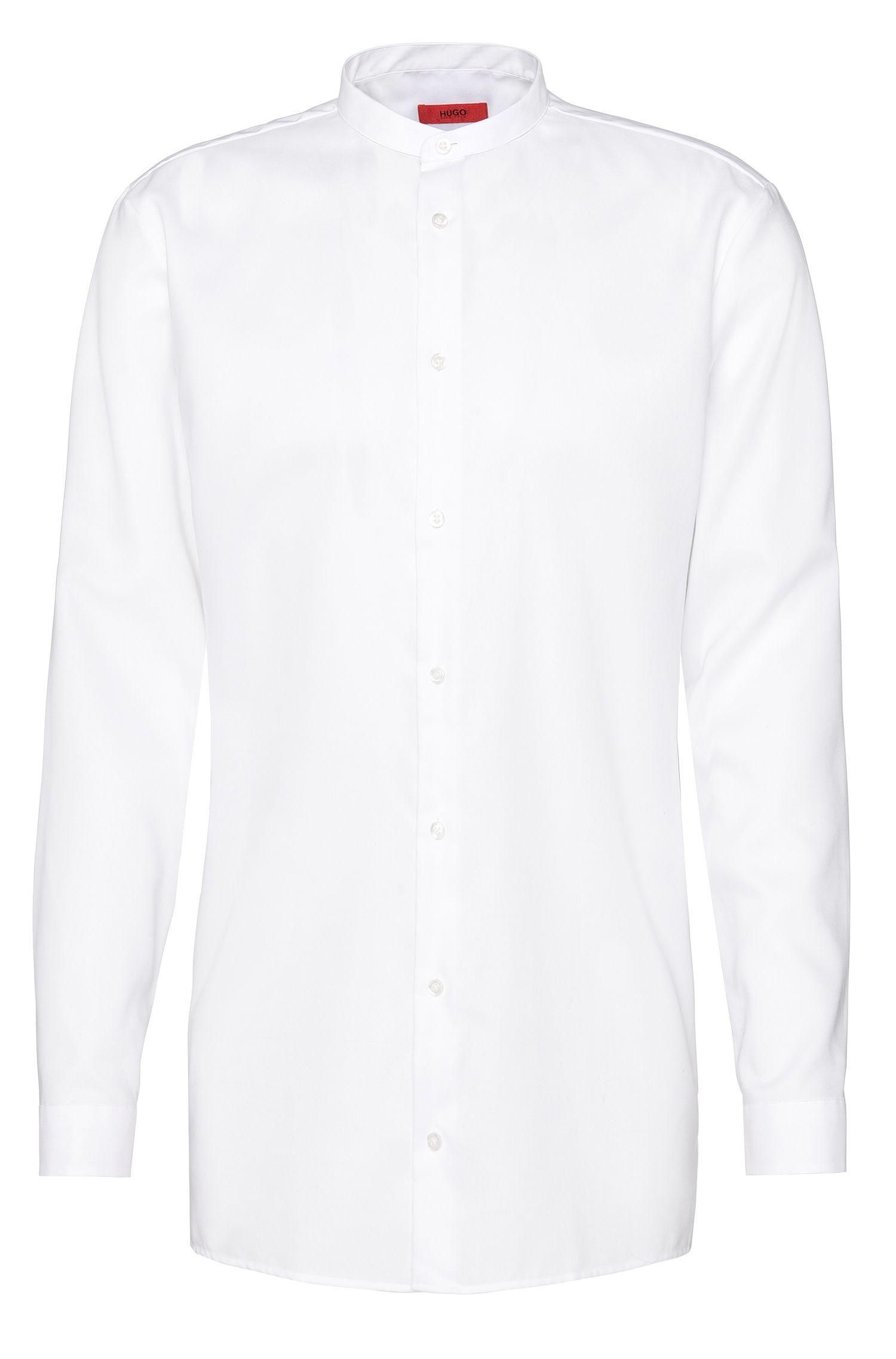 Unifarbenes Comfort-Fit Hemd aus Baumwolle: 'Eddison'