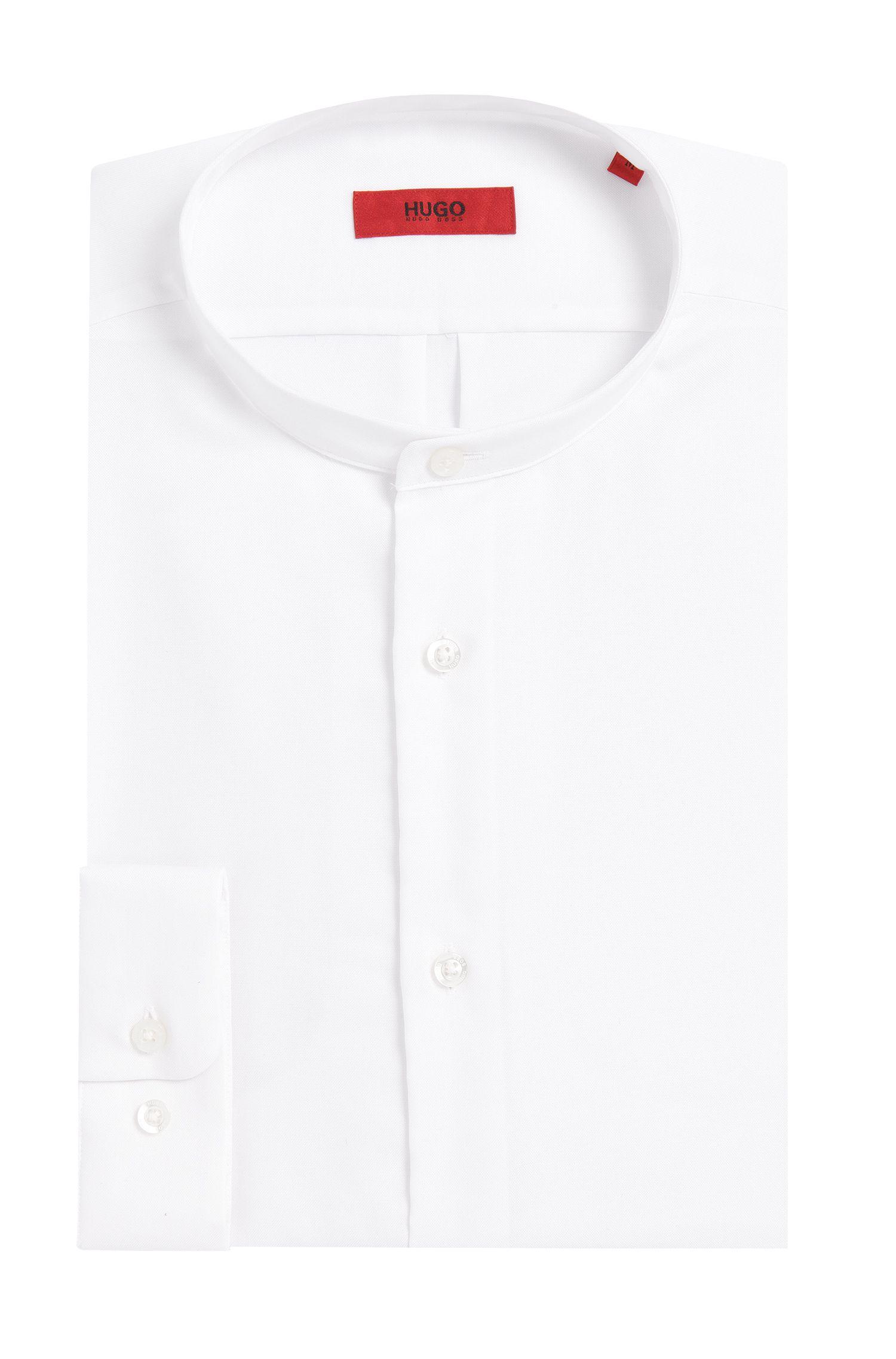 Effen comfort-fit overhemd van katoen: 'Eddison'