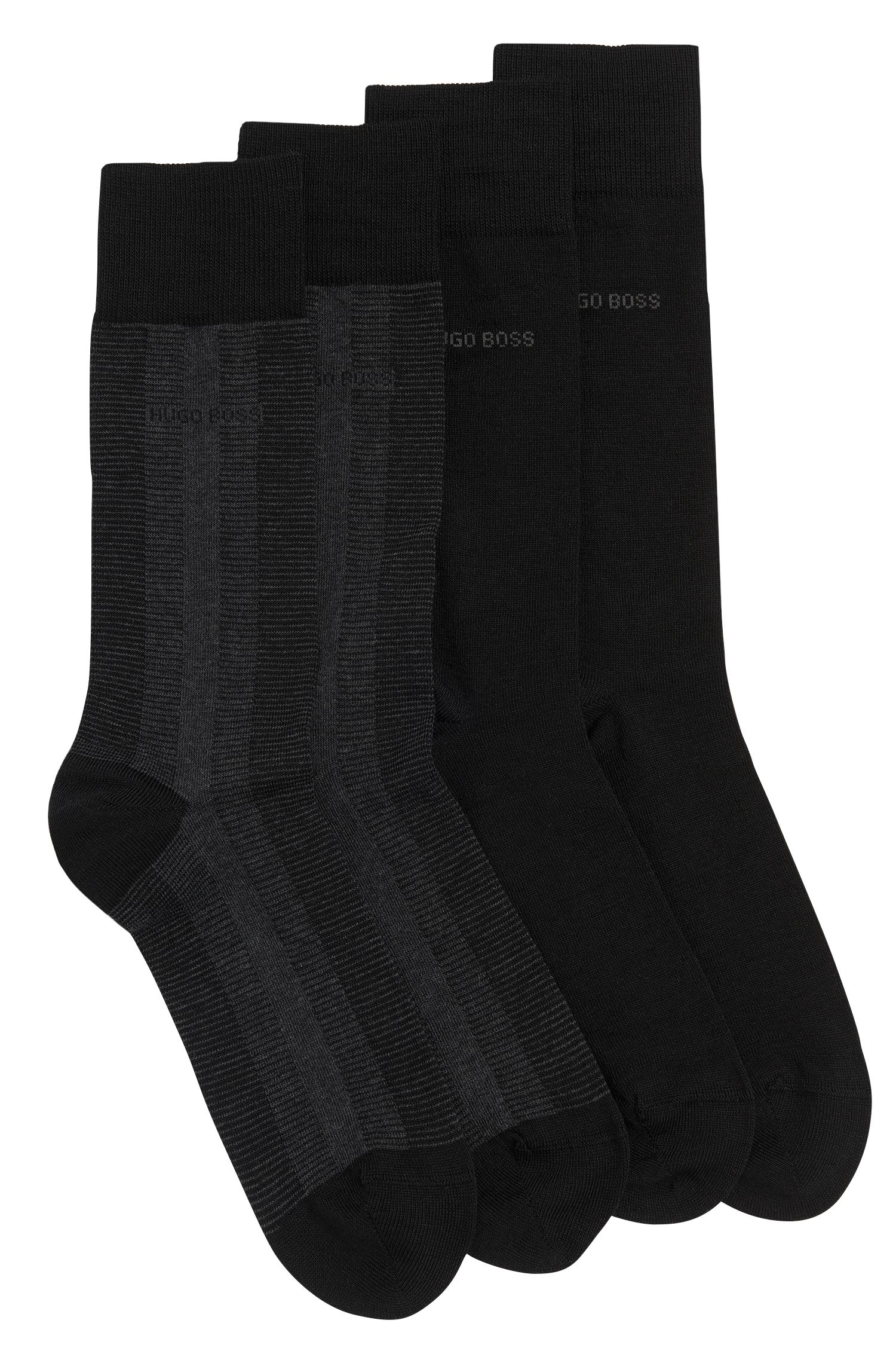 Socks double pack in a wool blend with cotton: 'Twopack RS Design'