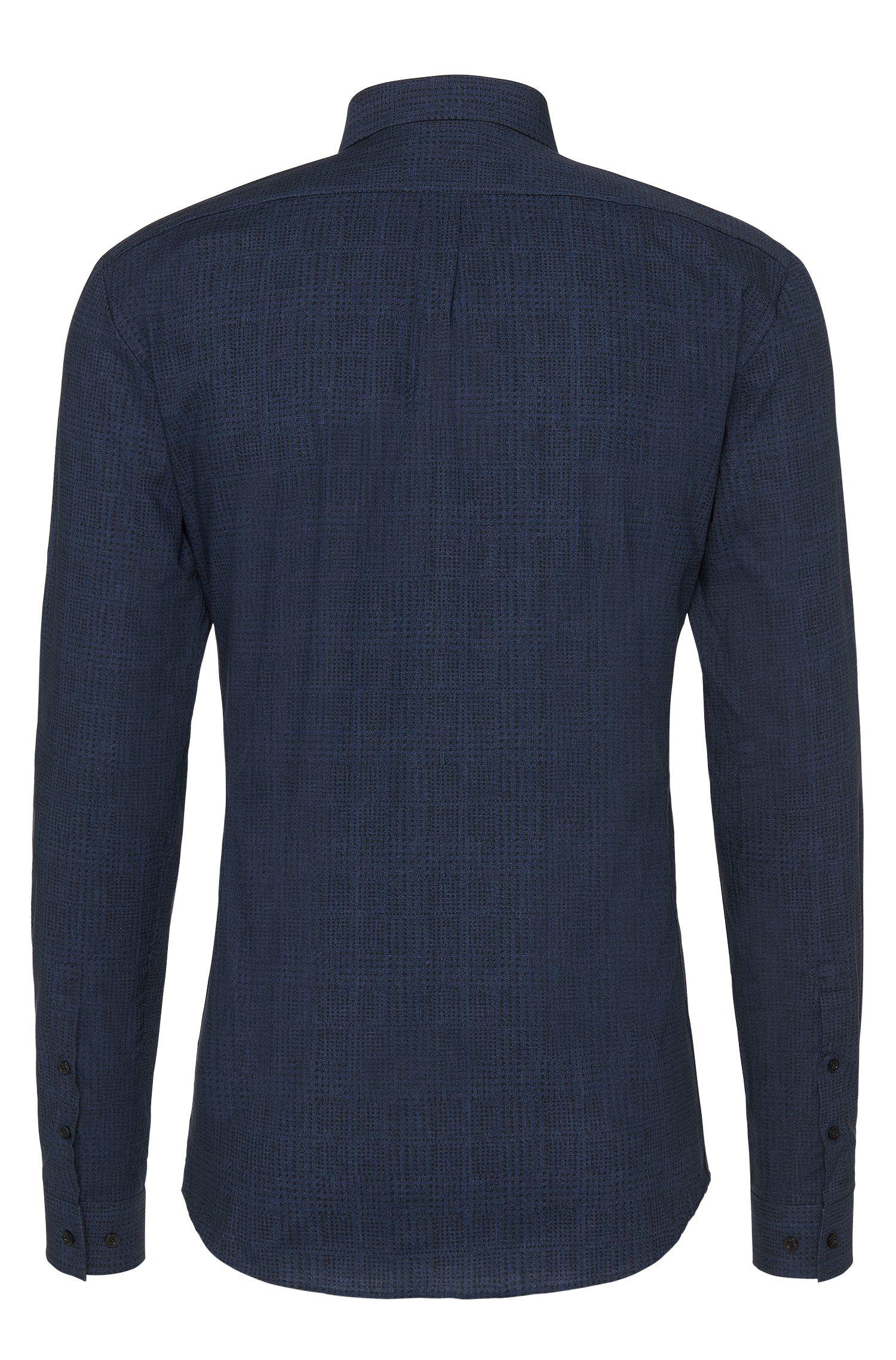 Slim-fit overhemd van katoen met dessin: 'Ero3'