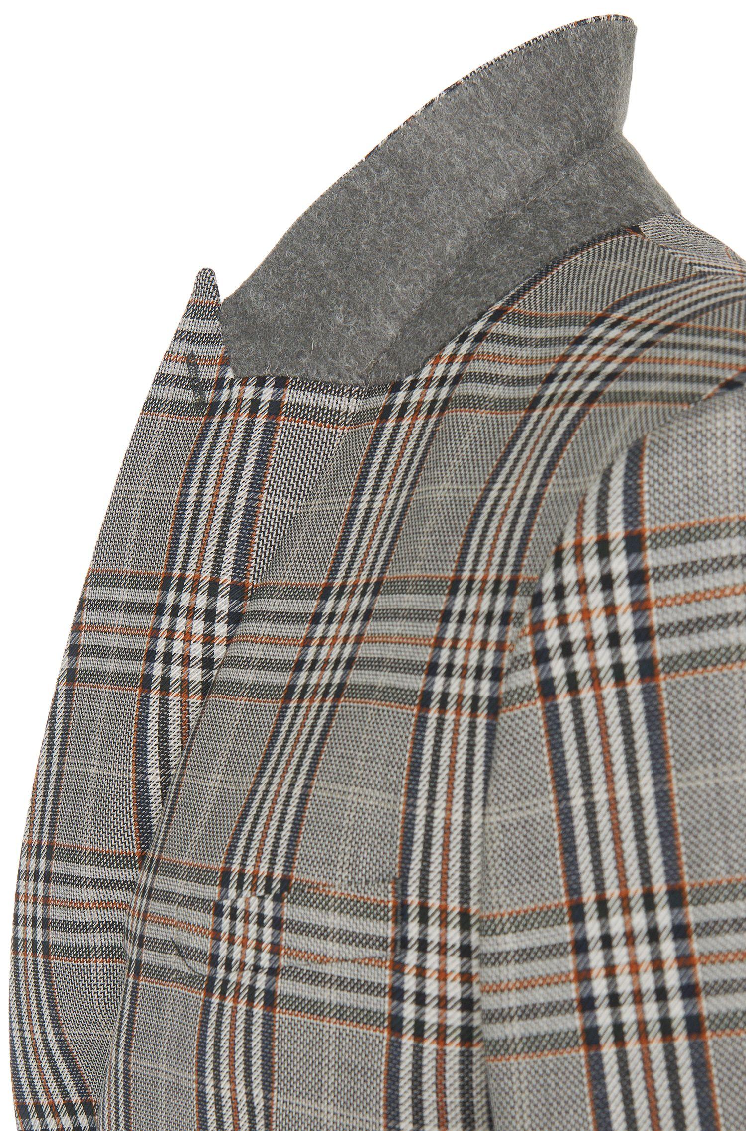 Slim-fit kostuum van scheerwol met glencheckdessin: 'Allin/Harlith'