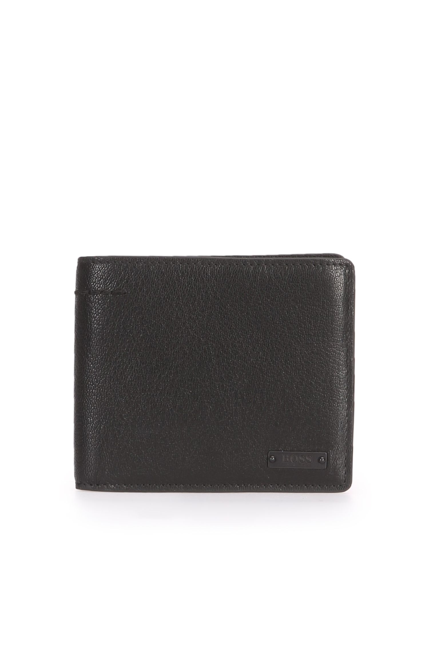 Wallet in matt grained leather: 'Journey_4 cc coin'