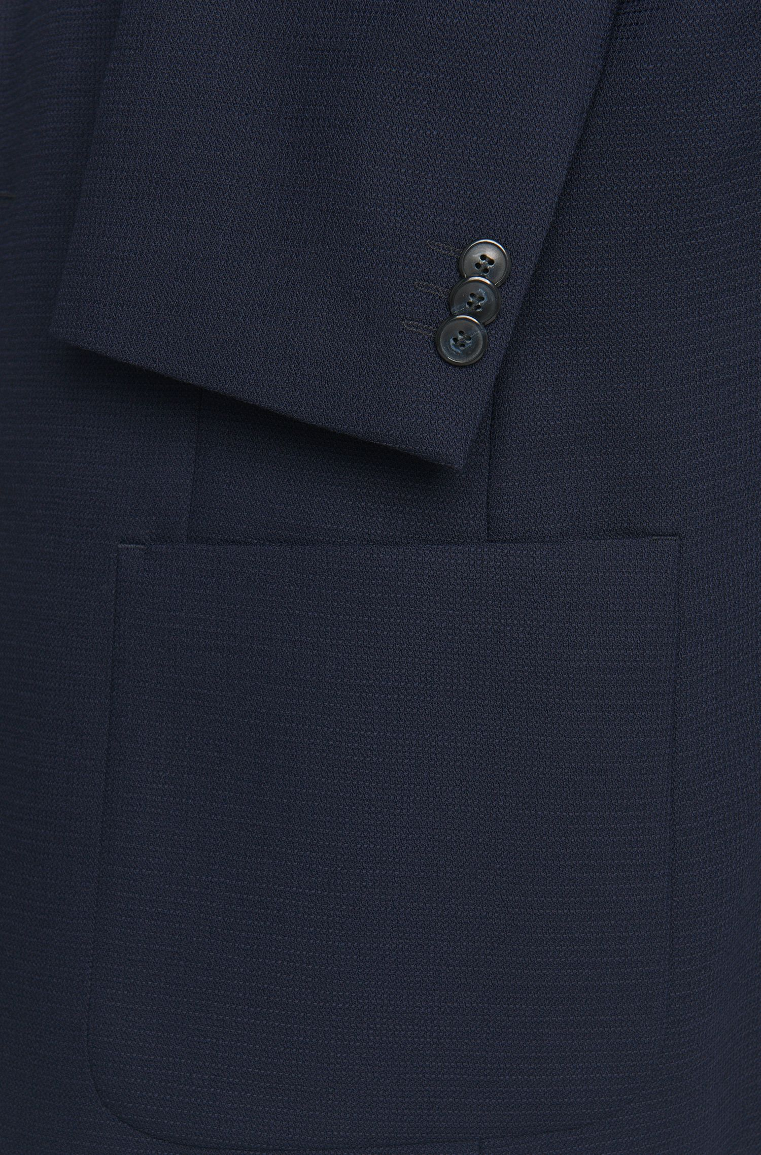 Veste de costume Slim Fit en laine vierge à la structure intégrale: «Antanos»