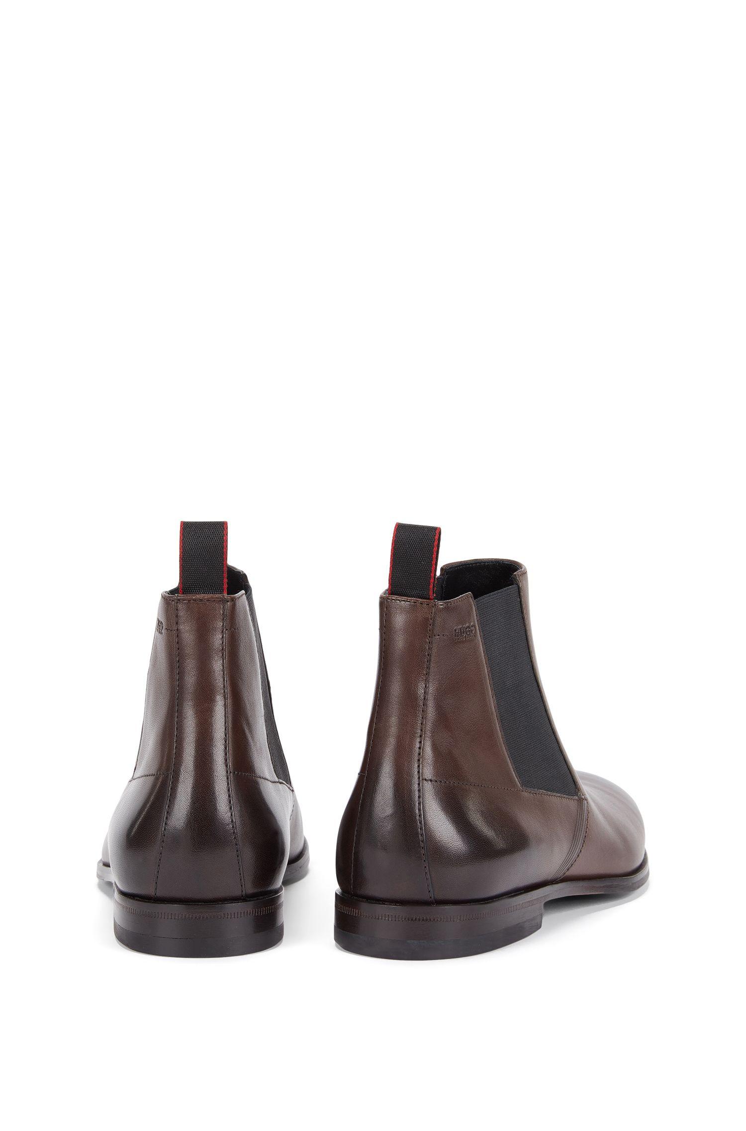 Chelsea Boots aus Leder mit Laser-Detail: 'Square_Cheb_ltls'