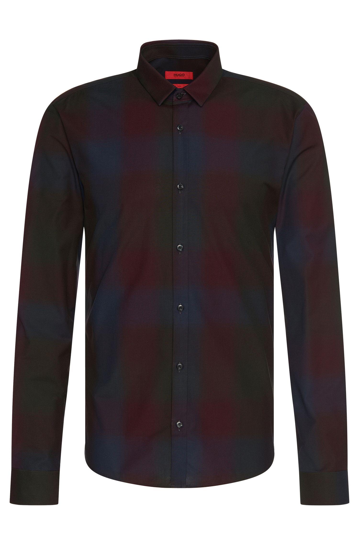 Slim-Fit Hemd aus Baumwolle im Tartan-Dessin: 'Ero3'
