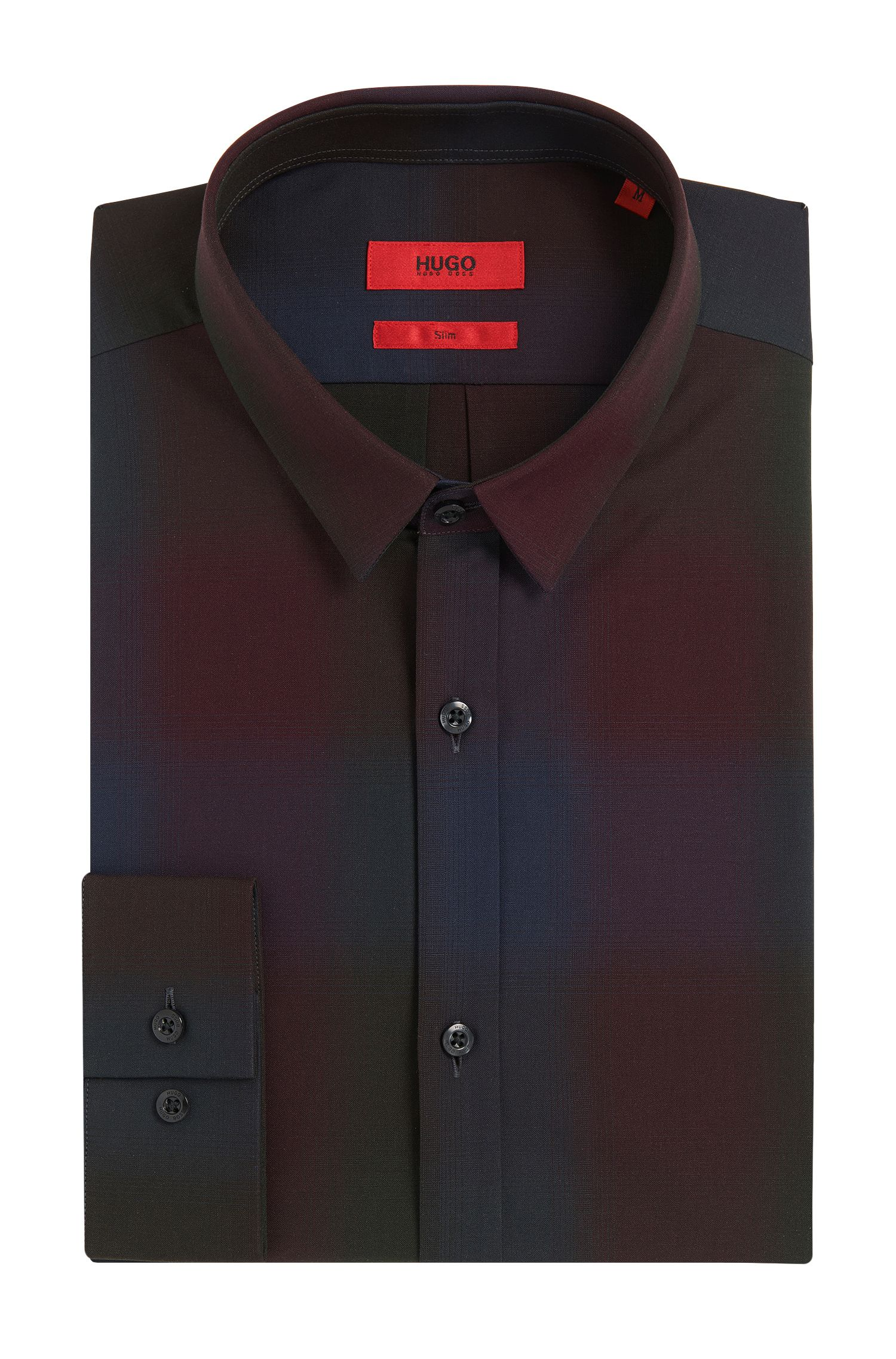 Slim-fit overhemd van katoen in tartandessin: 'Ero3'