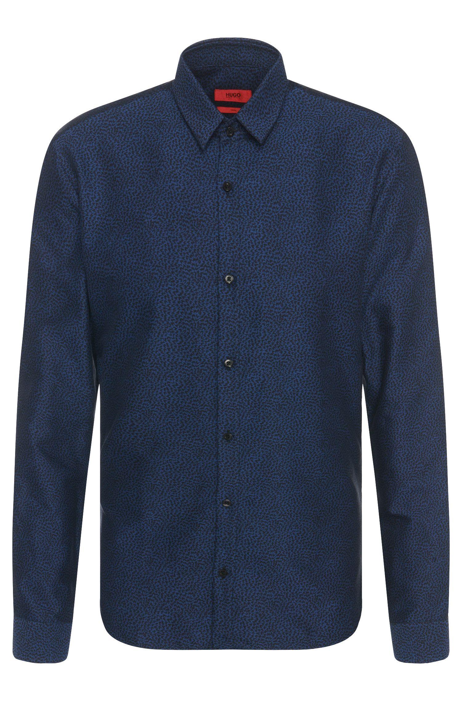 Camisa slim fit estampada en algodón: 'Ero3'