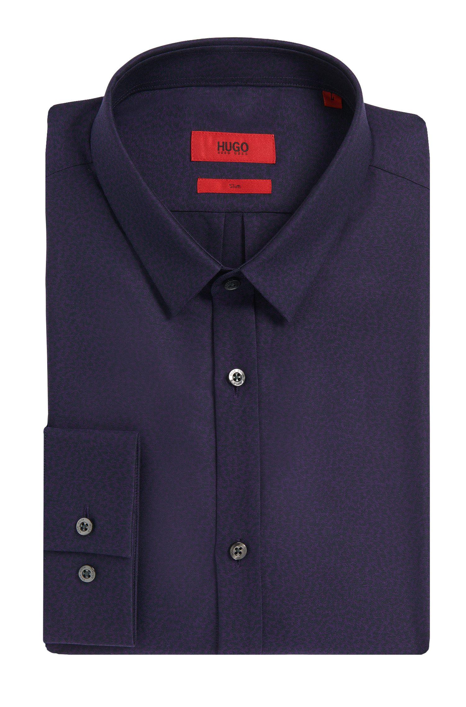 Chemise Slim Fit à motif en coton: «Ero3»