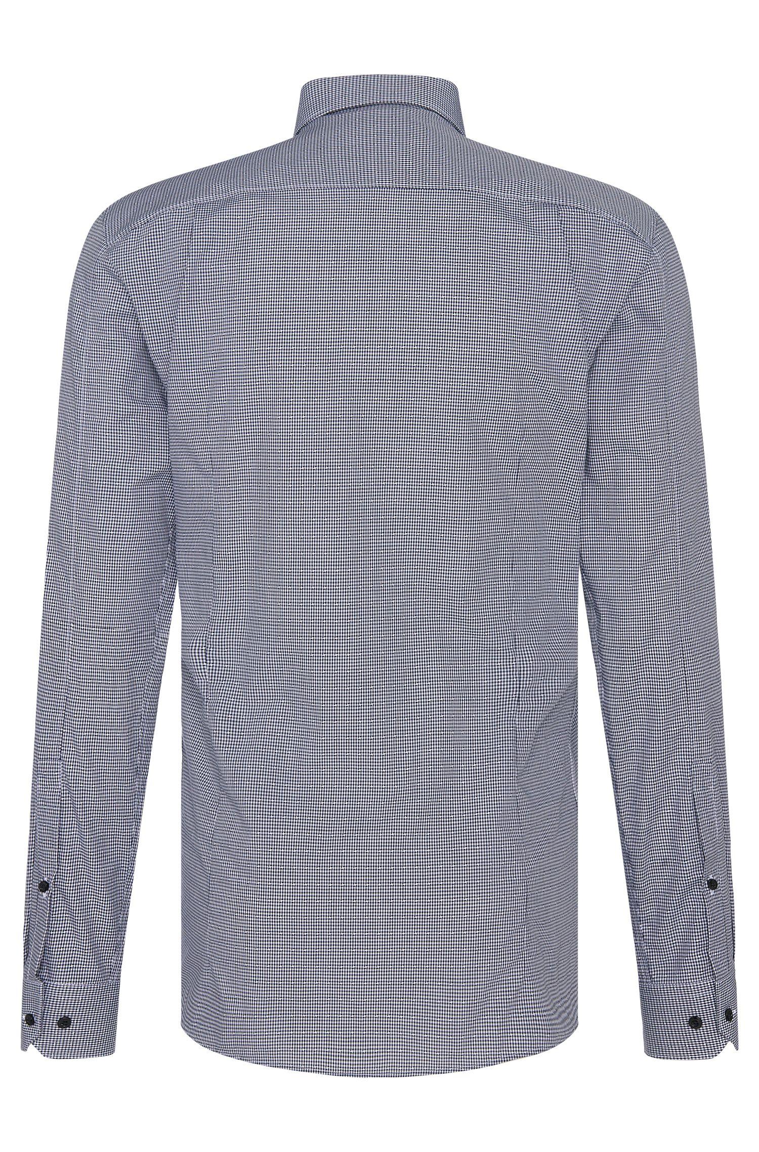 Geruit slim-fit overhemd van katoen: 'Elisha'