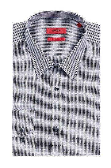 Kariertes Slim-Fit Hemd aus Baumwolle: 'Elisha', Dunkelblau