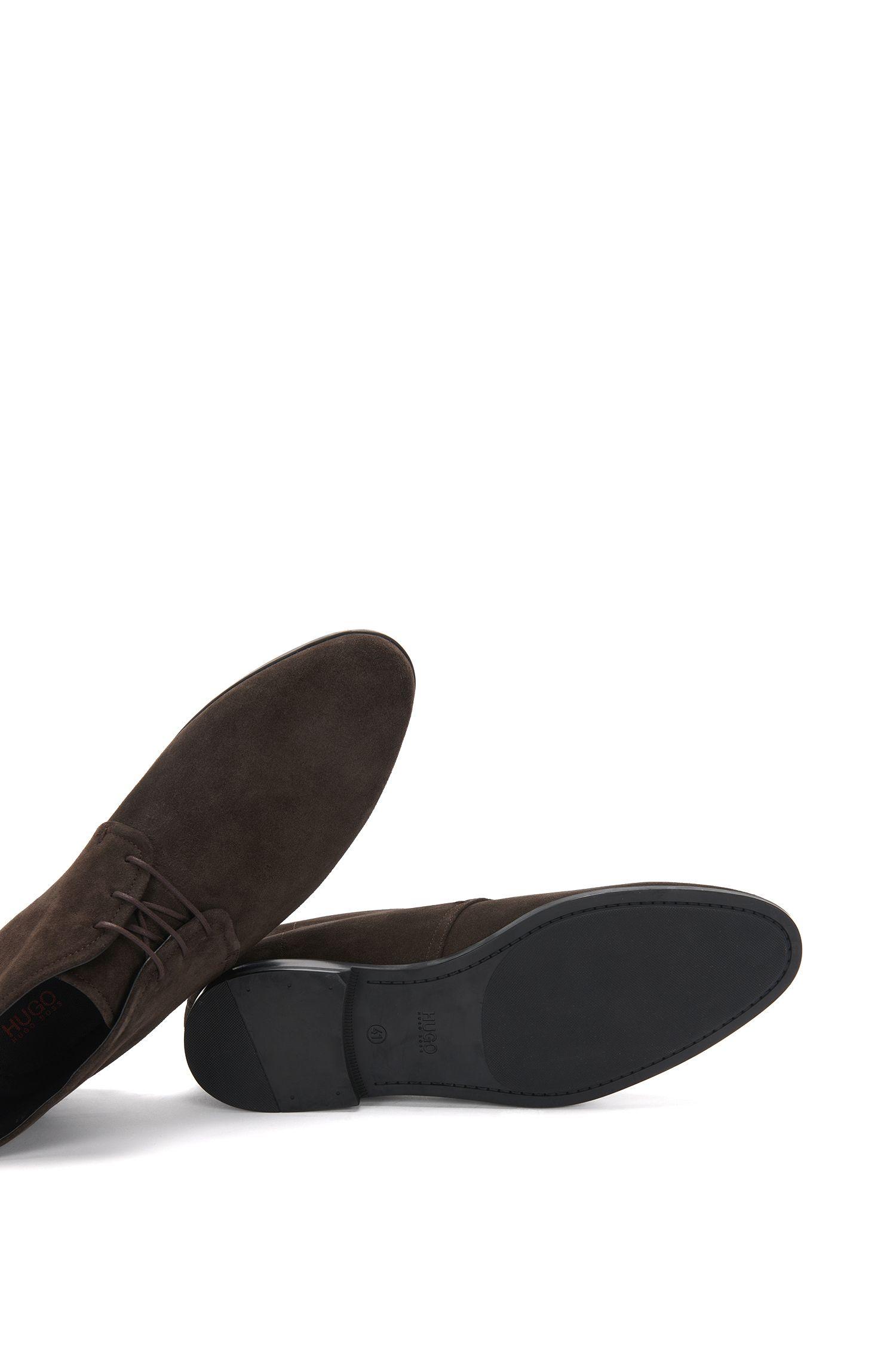 Chaussures à lacets hauteur cheville confectionnées en daim: «Pariss_Desb_3sd»