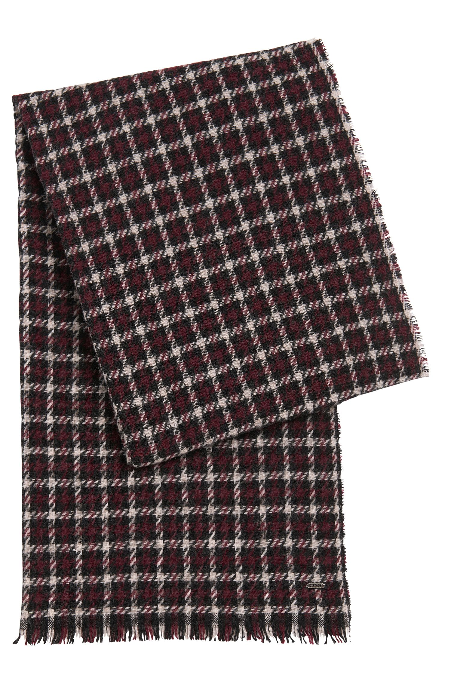 Scarf in wool blend with houndstooth pattern: 'Women-Z 526'