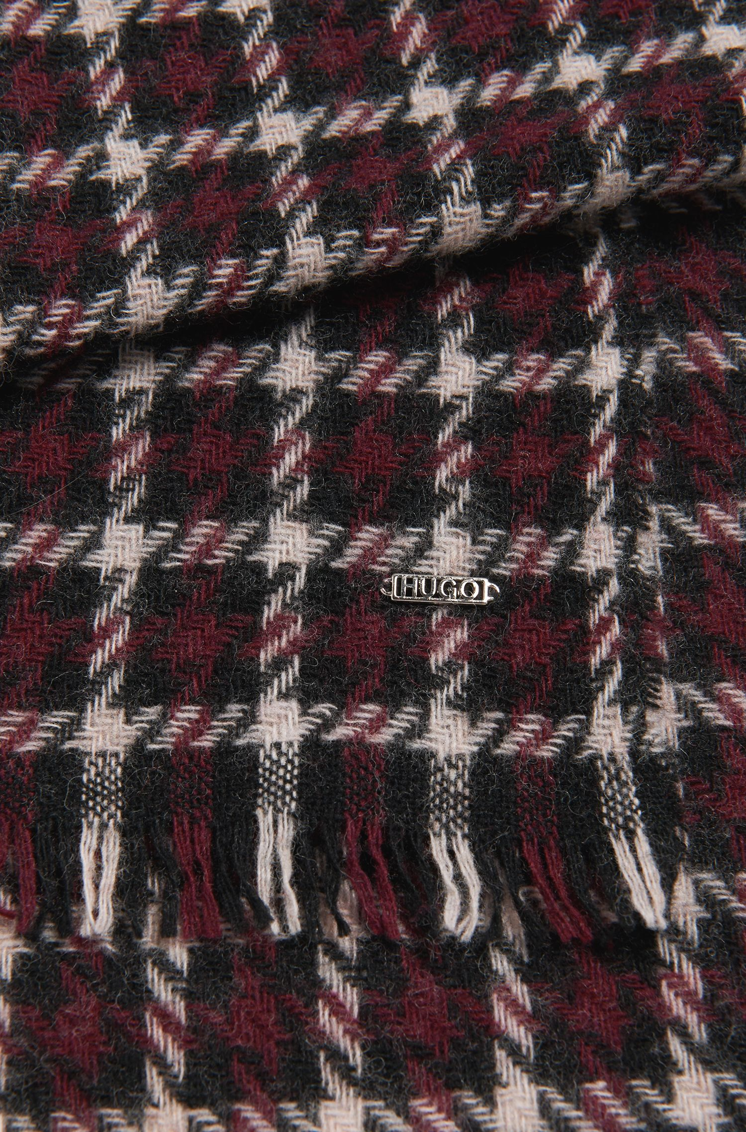 Schal aus Woll-Mix mit Hahnentritt-Muster: 'Women-Z 526'