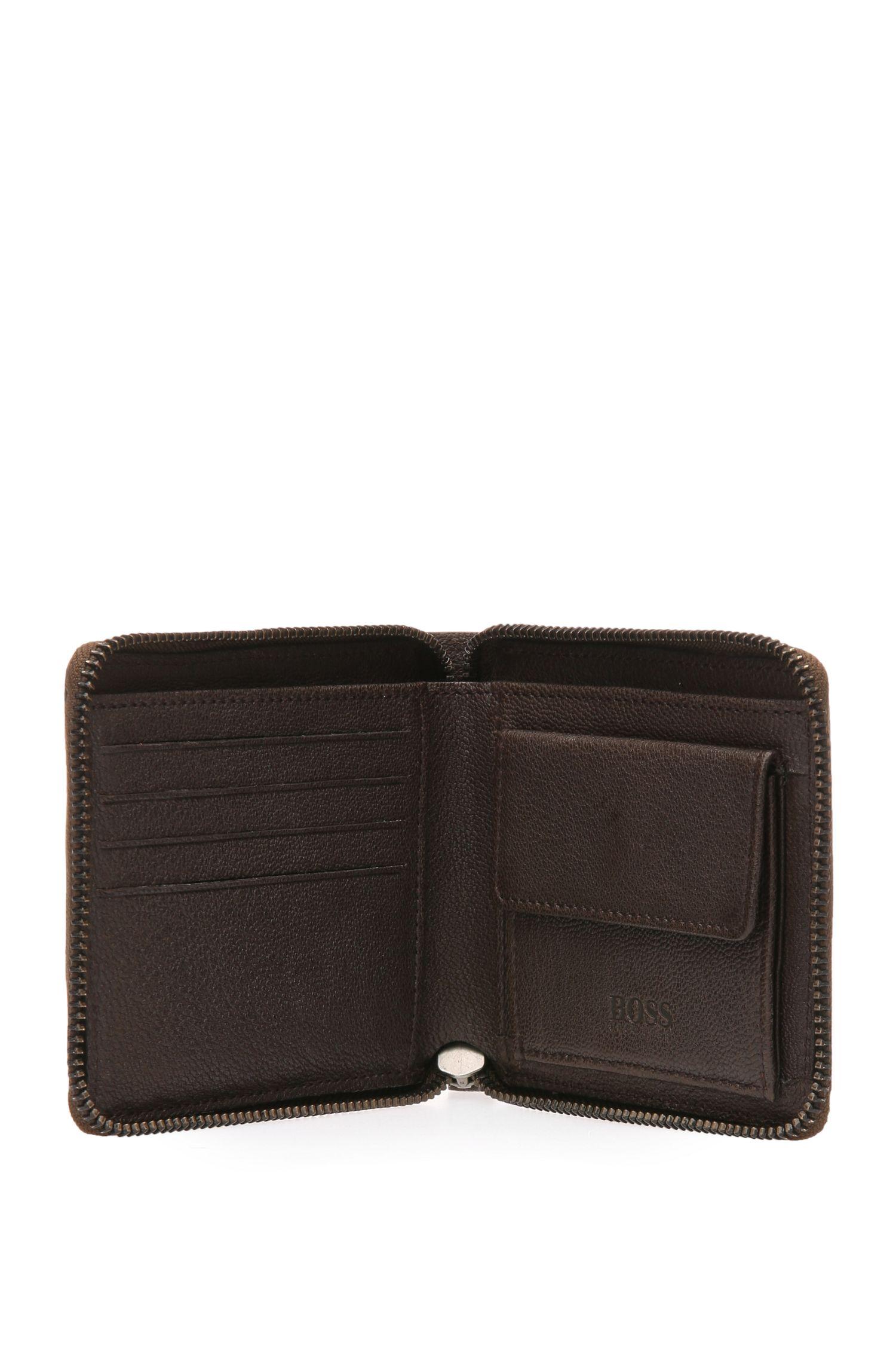 Portemonnaie aus geprägtem Leder mit Reißverschluss: ´Journey_Z around`