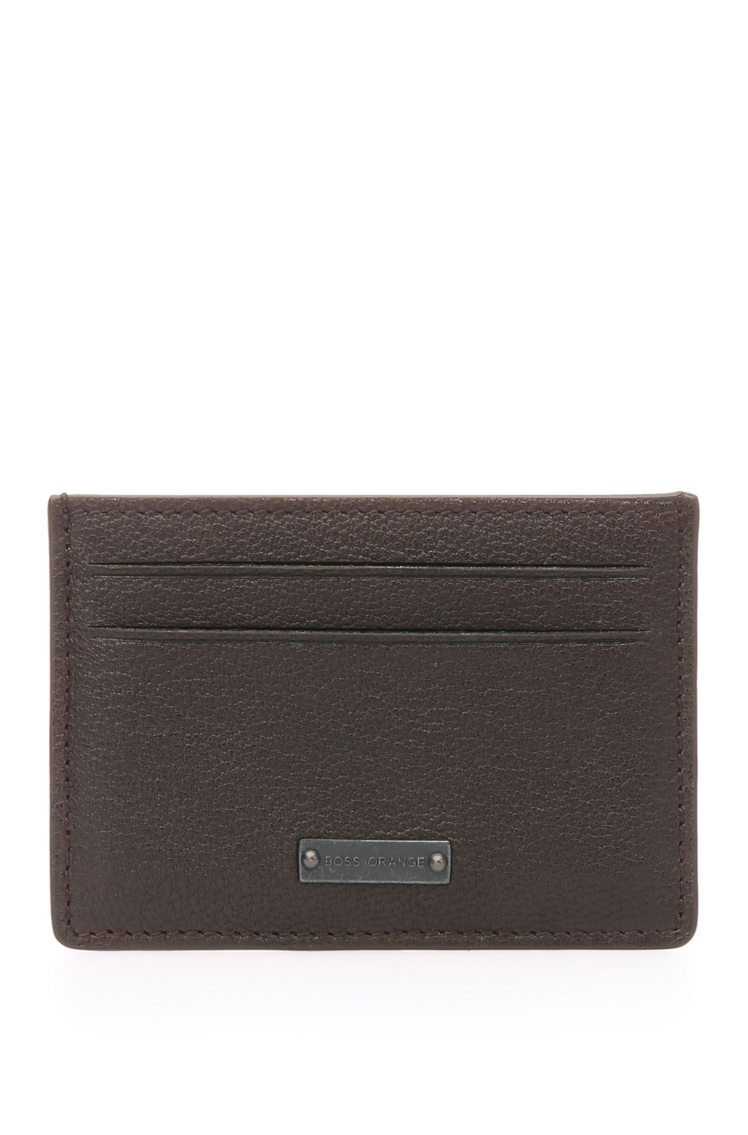 Grained leather card case: 'Journey_S card'