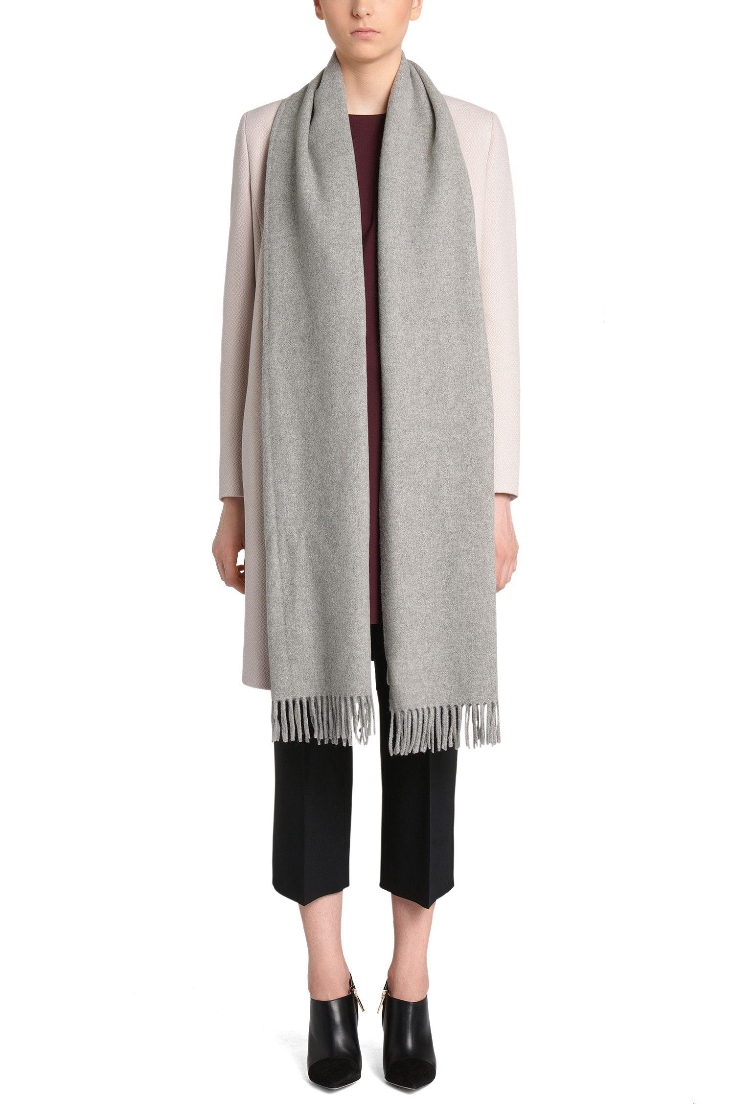 Gemêleerde sjaal van een wolmix met kasjmier: 'Women-Z 522'