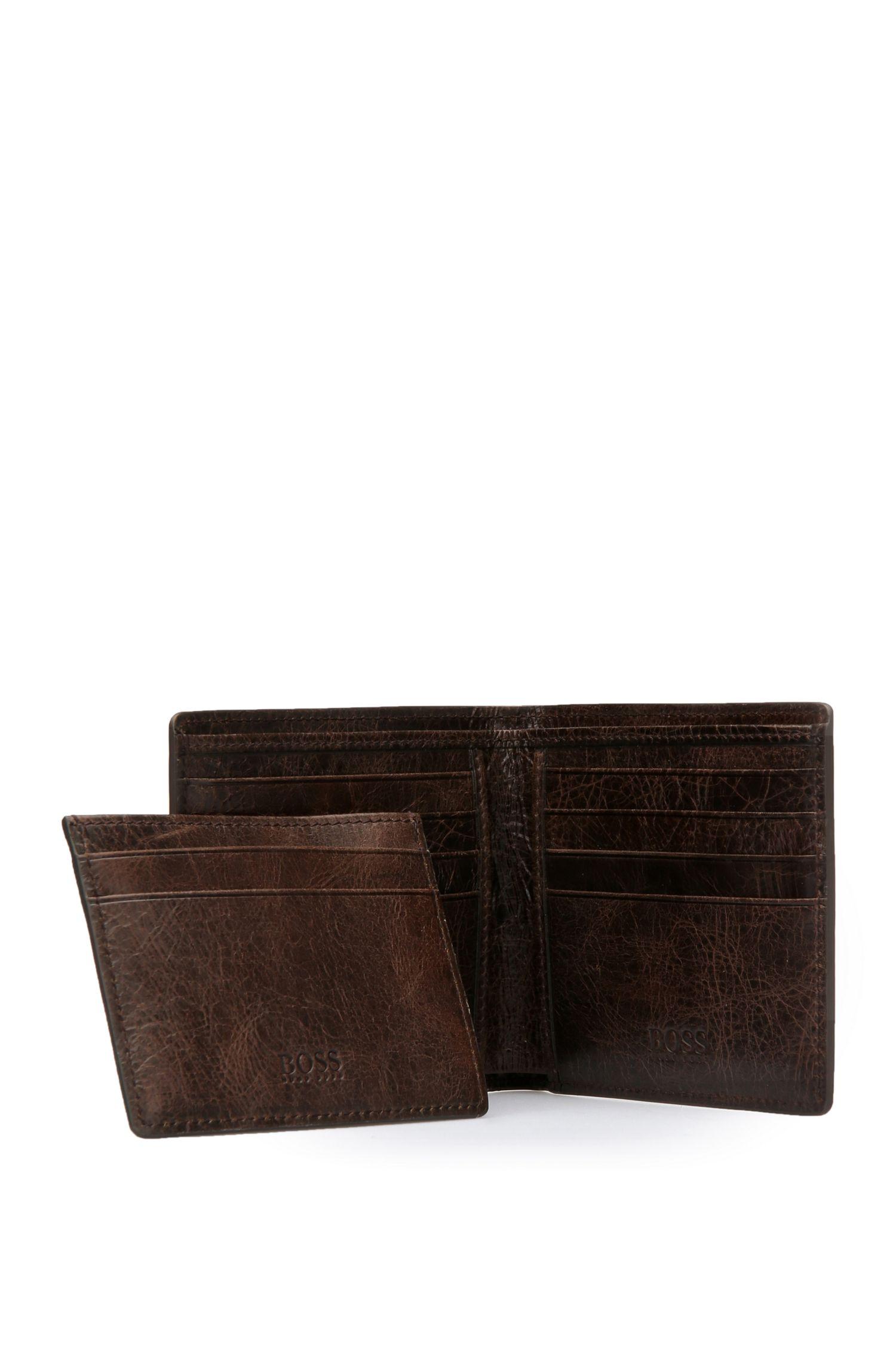 Set mit Kartenetui und Geldbörse aus genarbtem Leder: ´GbO16FW_8 cc S card`
