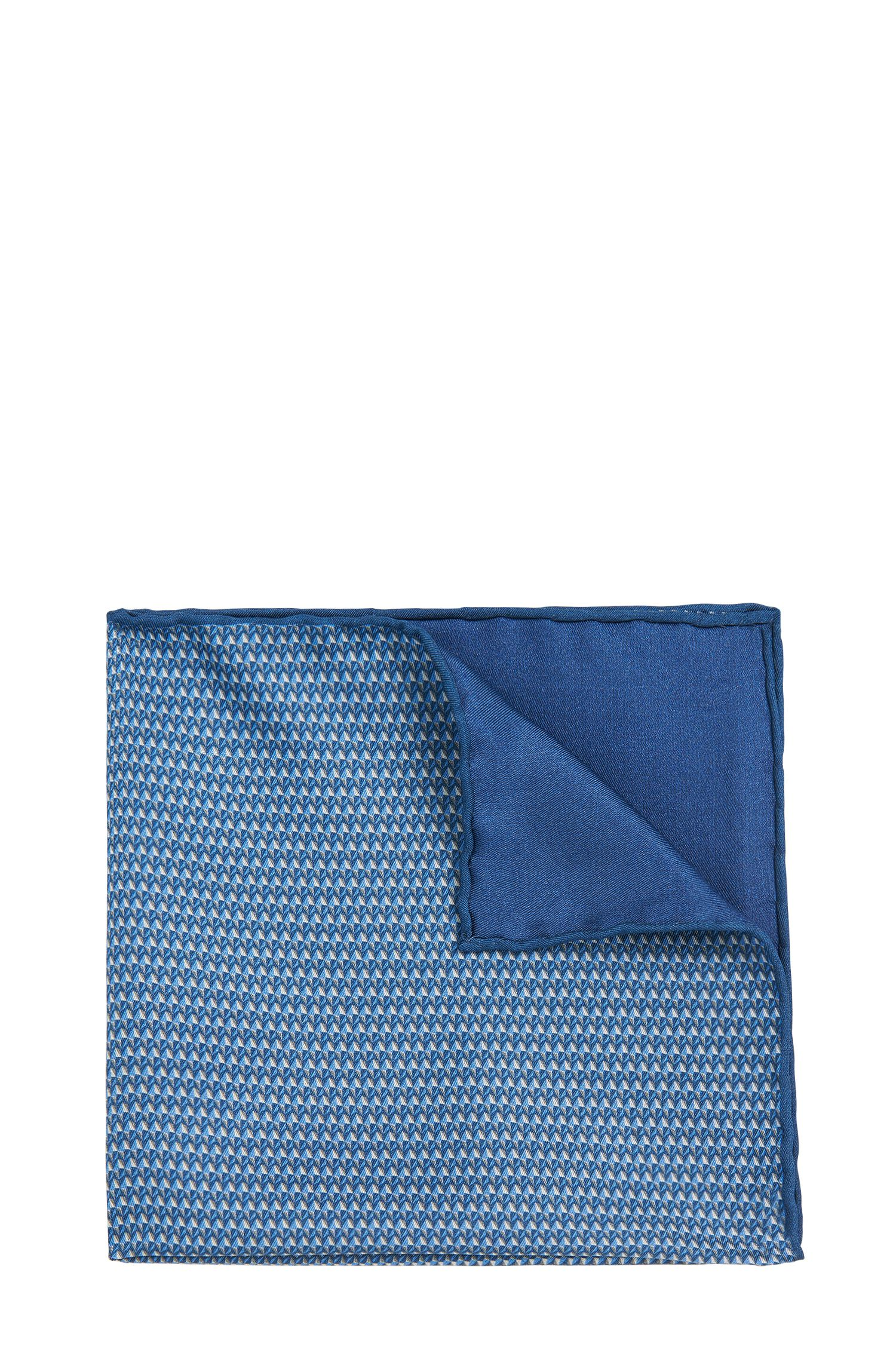 Gemustertes Tailored Einstecktuch aus Seide: 'T-Pocket sq. cm 33x33'