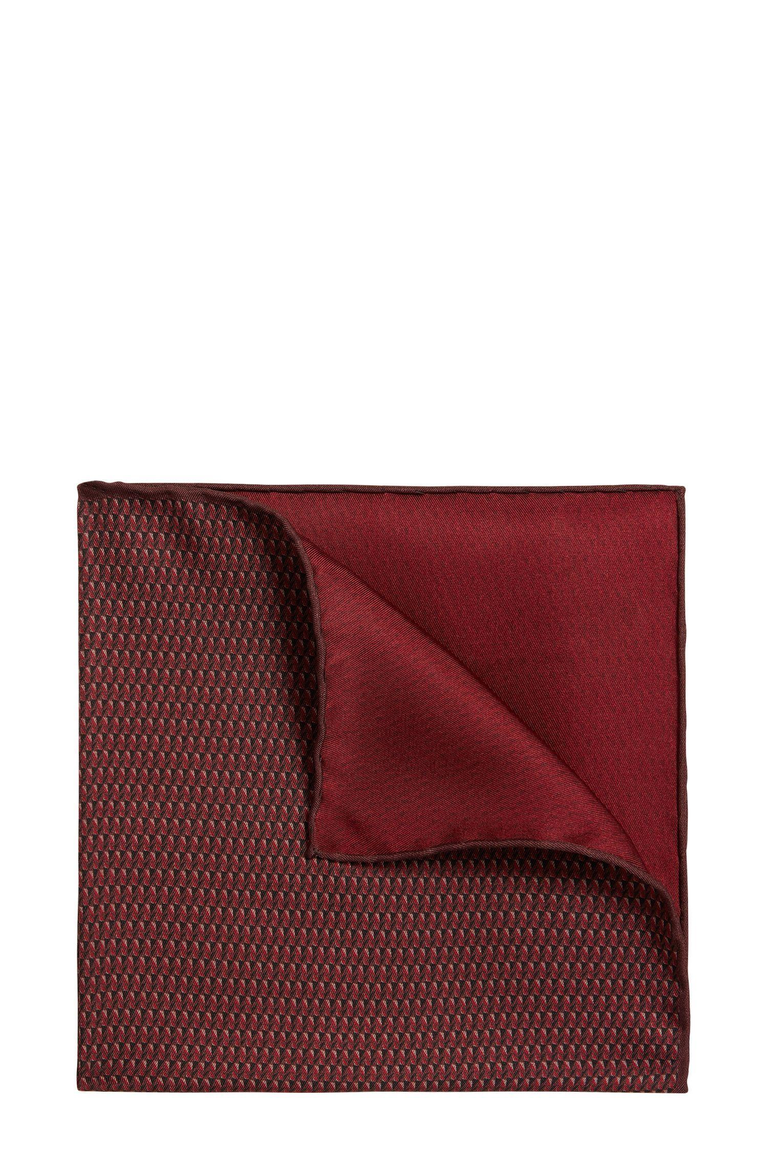 Gemustertes Tailored Einstecktuch aus Seide: 'T-Pocket sq. cm 33x33'