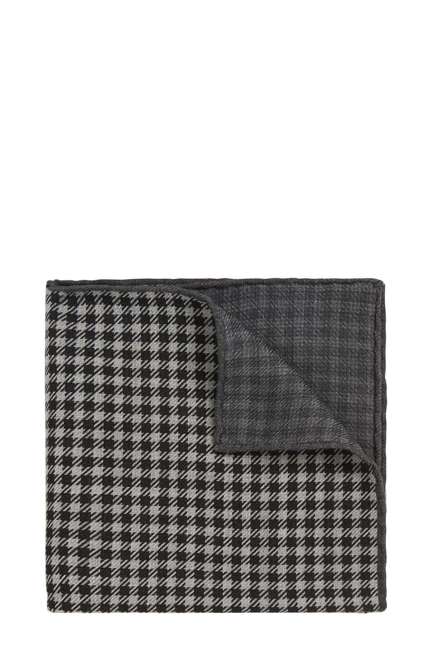 Kariertes Tailored Einstecktuch aus Wolle: 'T-Pocket sq. cm 33x33'
