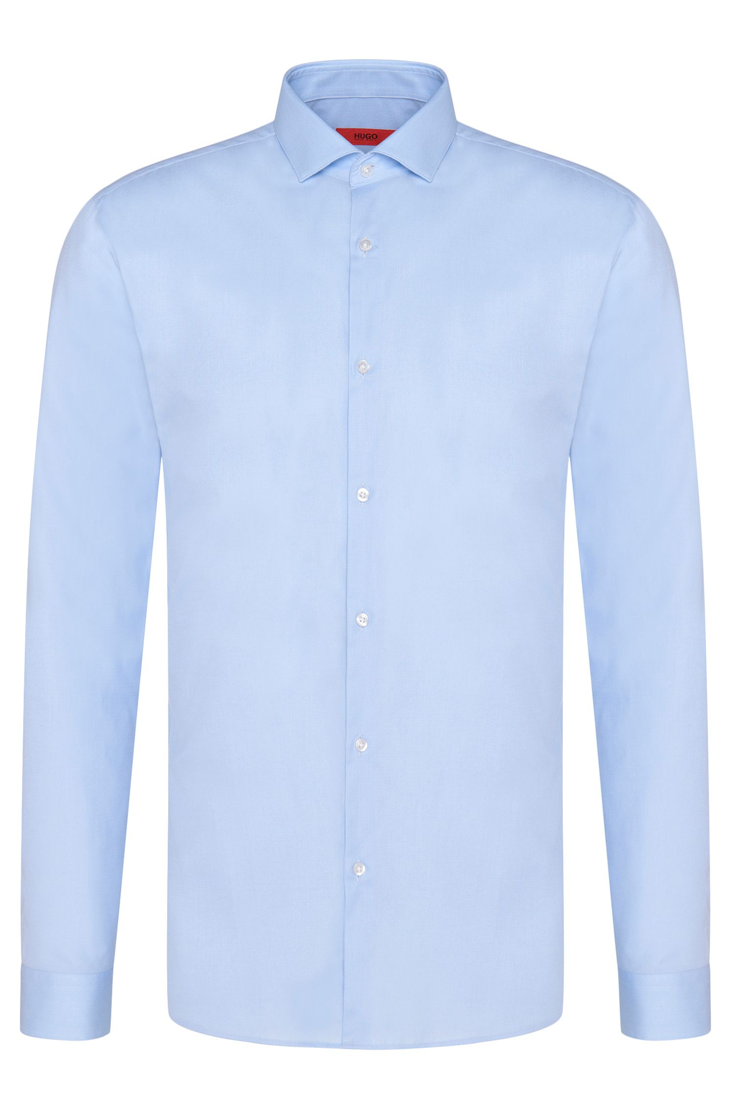 Chemise Slim Fit unie, en coton stretch : « Erondo »