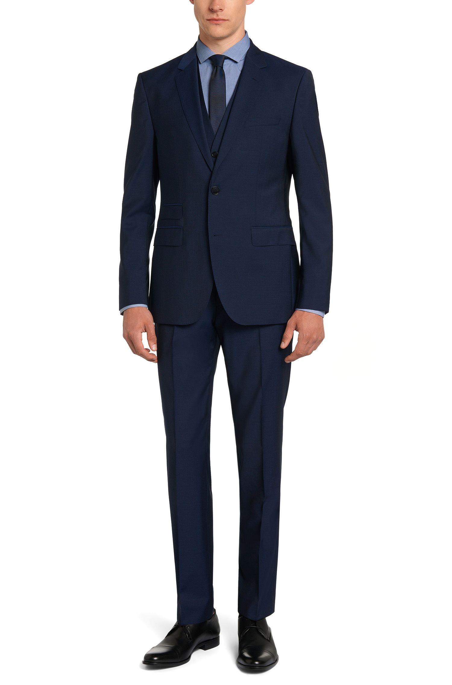 Gemustertes Slim-Fit Hemd aus reiner Baumwolle: 'Erondo'