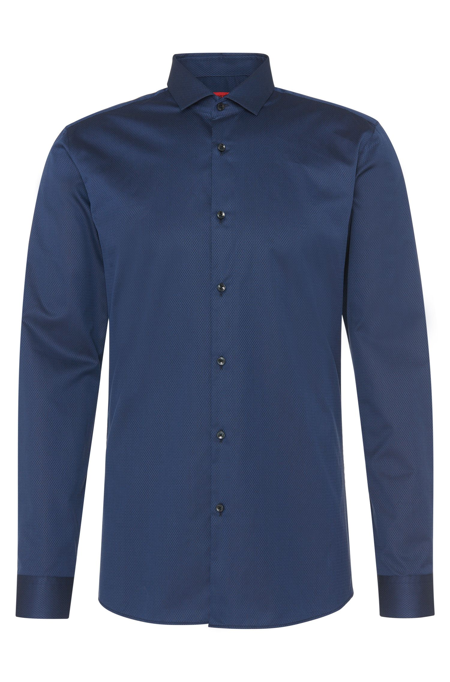 Slim-fit shirt in cotton with a fine textured pattern: 'Erondo'