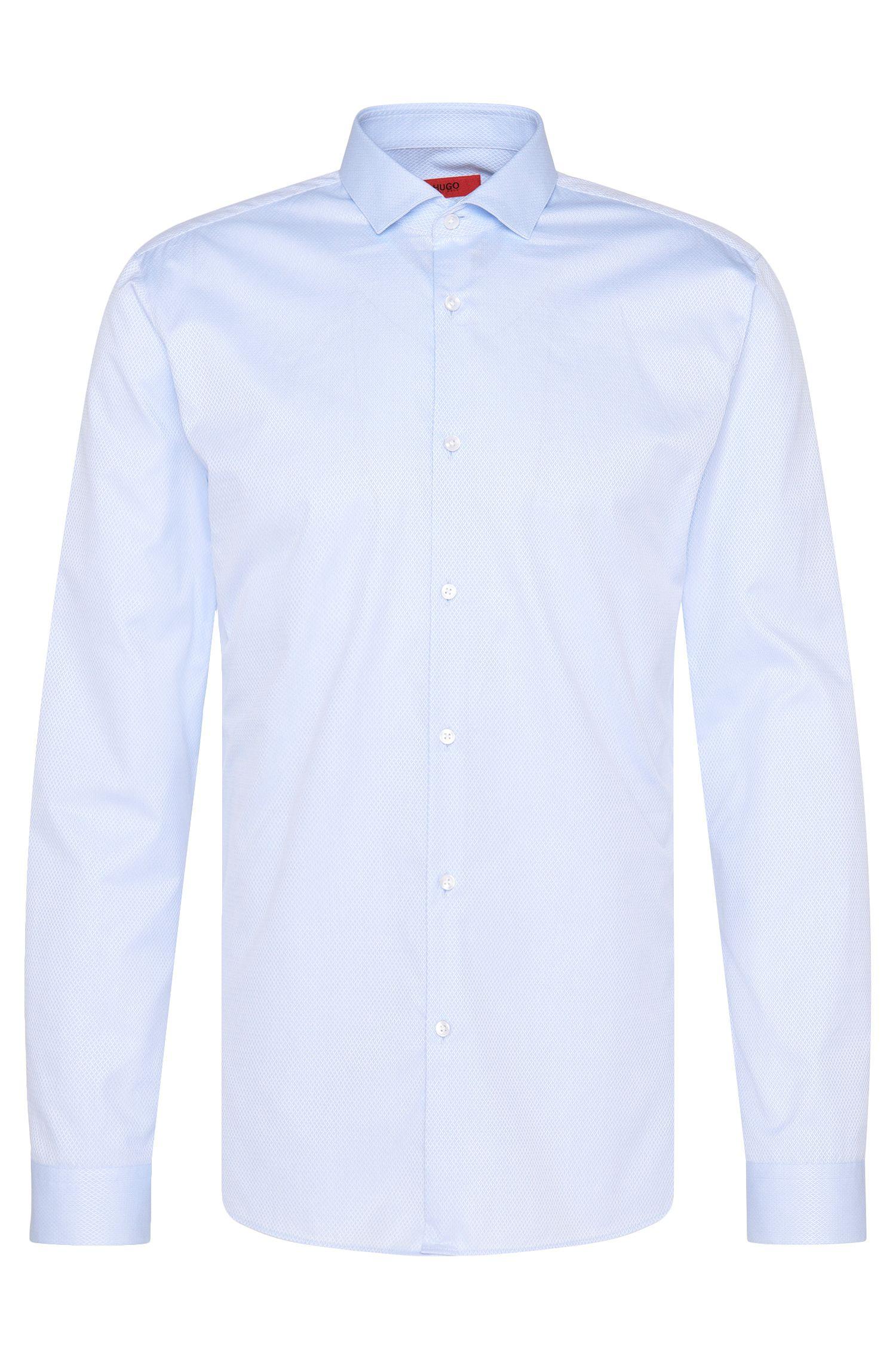 Camicia slim fit in cotone con fine motivo strutturato: 'Erondo'