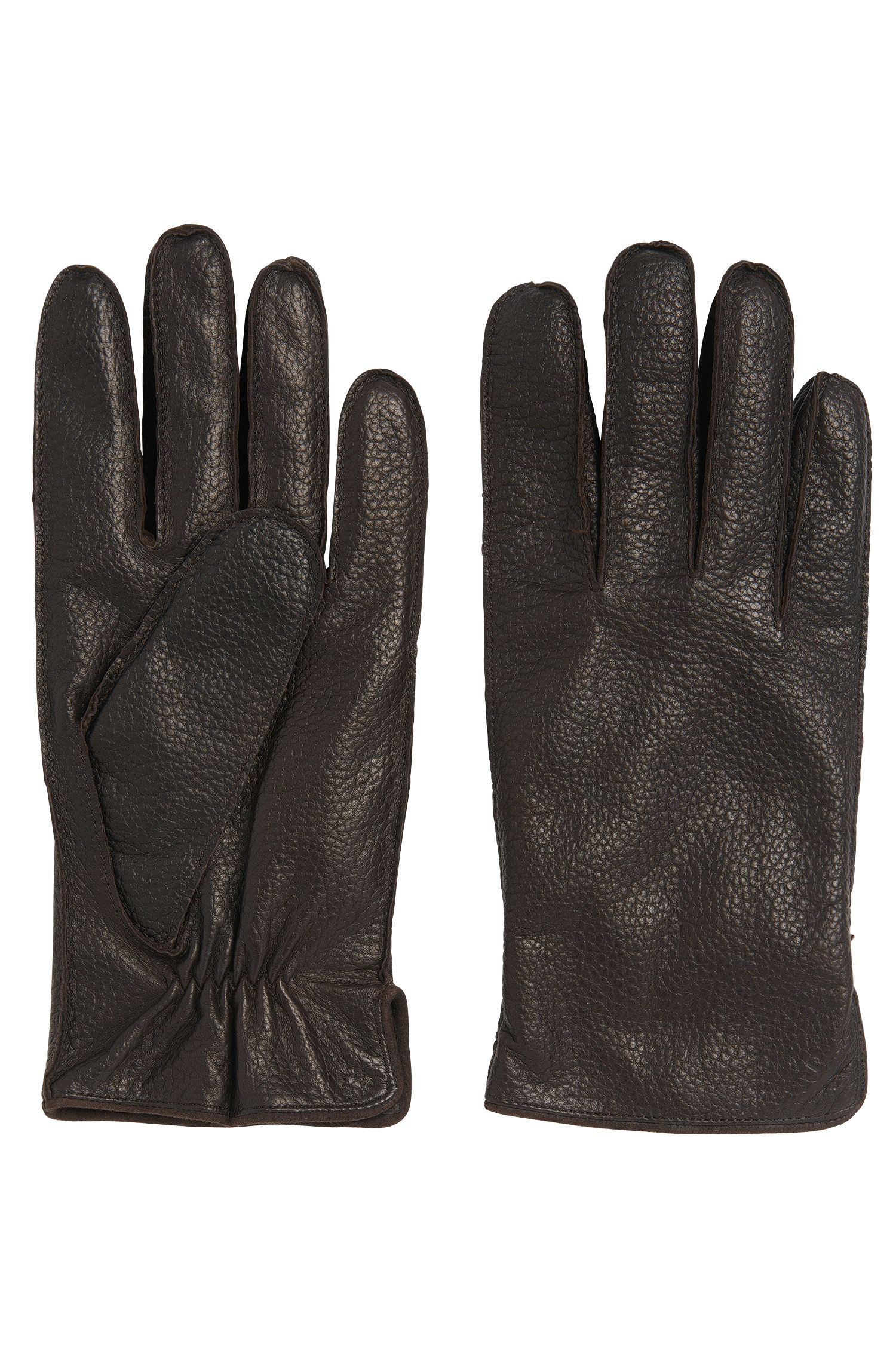 Leather gloves with elastic insert: 'Kranto3'