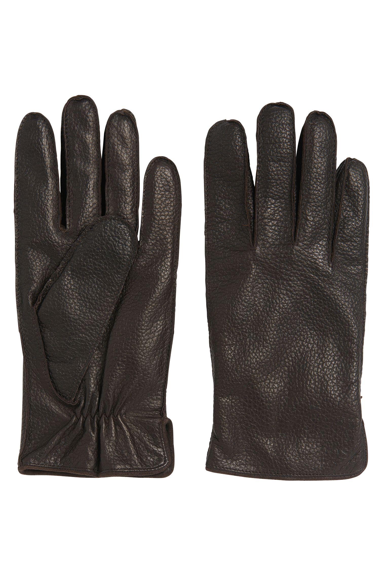 Gants en cuir avec empiècement élastique: «Kranto3»