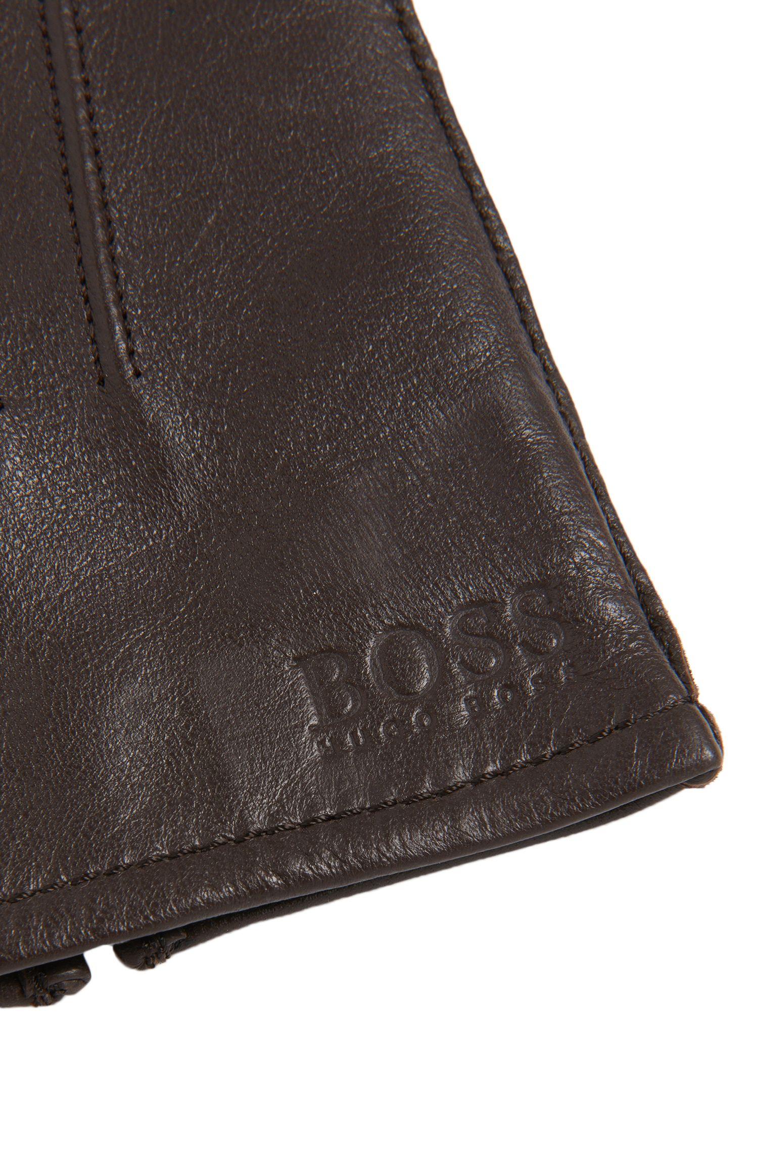 Gants en cuir ornés de coutures décoratives: «Haindt2»