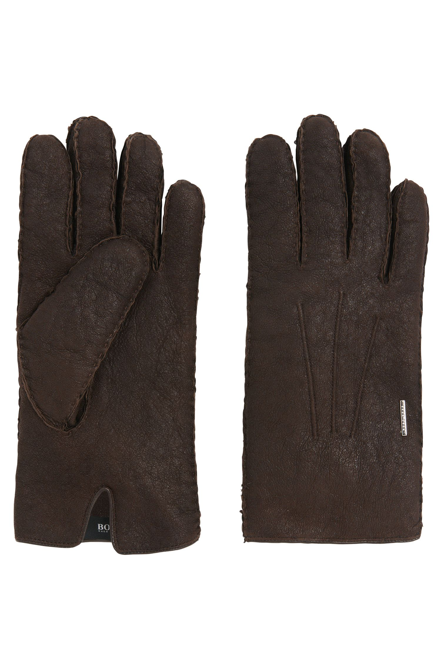Tailored leather gloves with lambskin lining: 'T- Hebis'