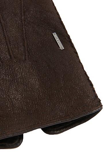 Tailored Handschuhe aus Leder mit Lammfell-Futter: 'T- Hebis', Hellbeige